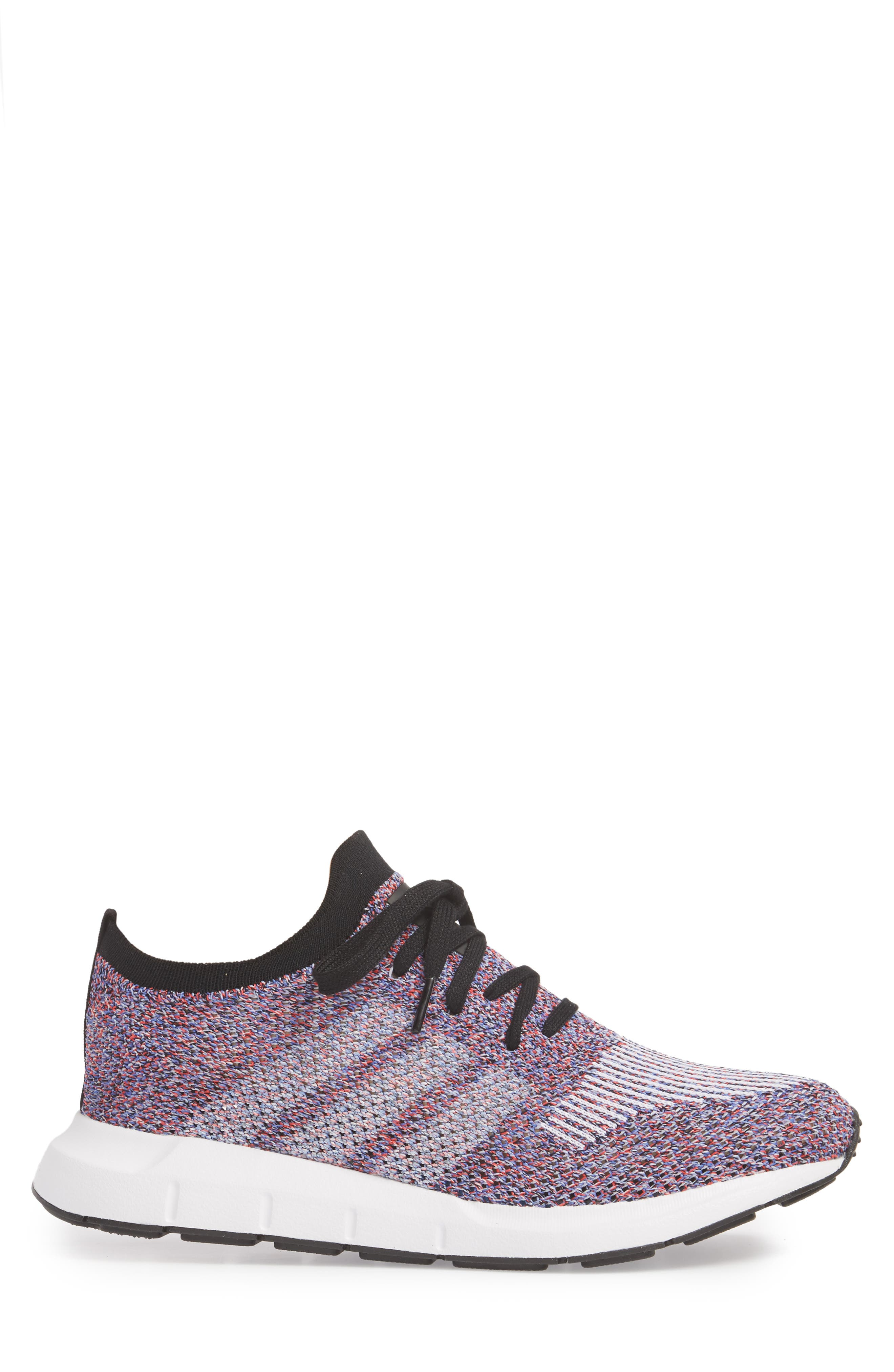 Swift Run Primeknit Sneaker,                             Alternate thumbnail 3, color,                             White/ Purple/ Black