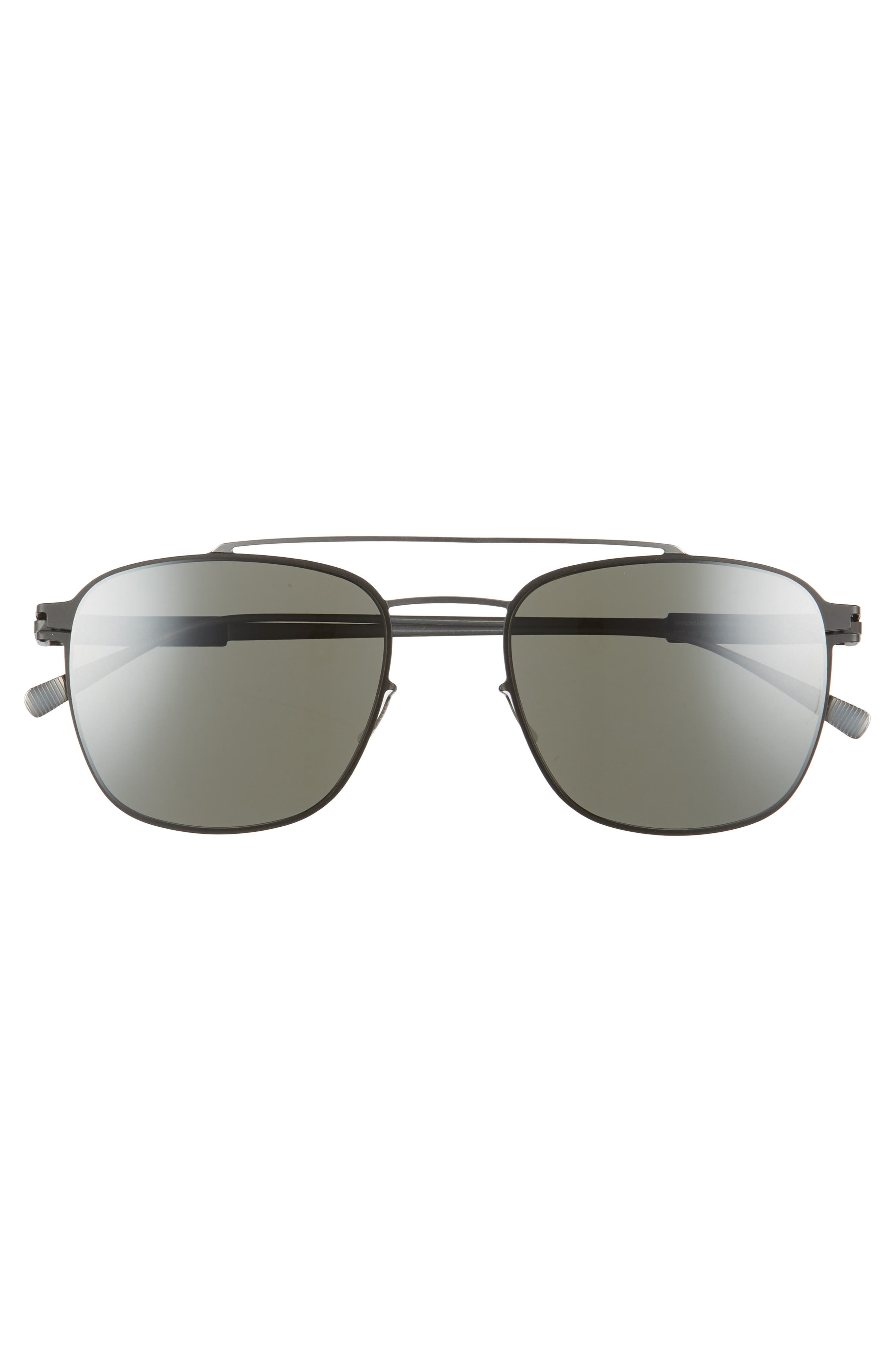 Hugh 52mm Mirrored Sunglasses,                             Alternate thumbnail 2, color,                             Silver/ Black