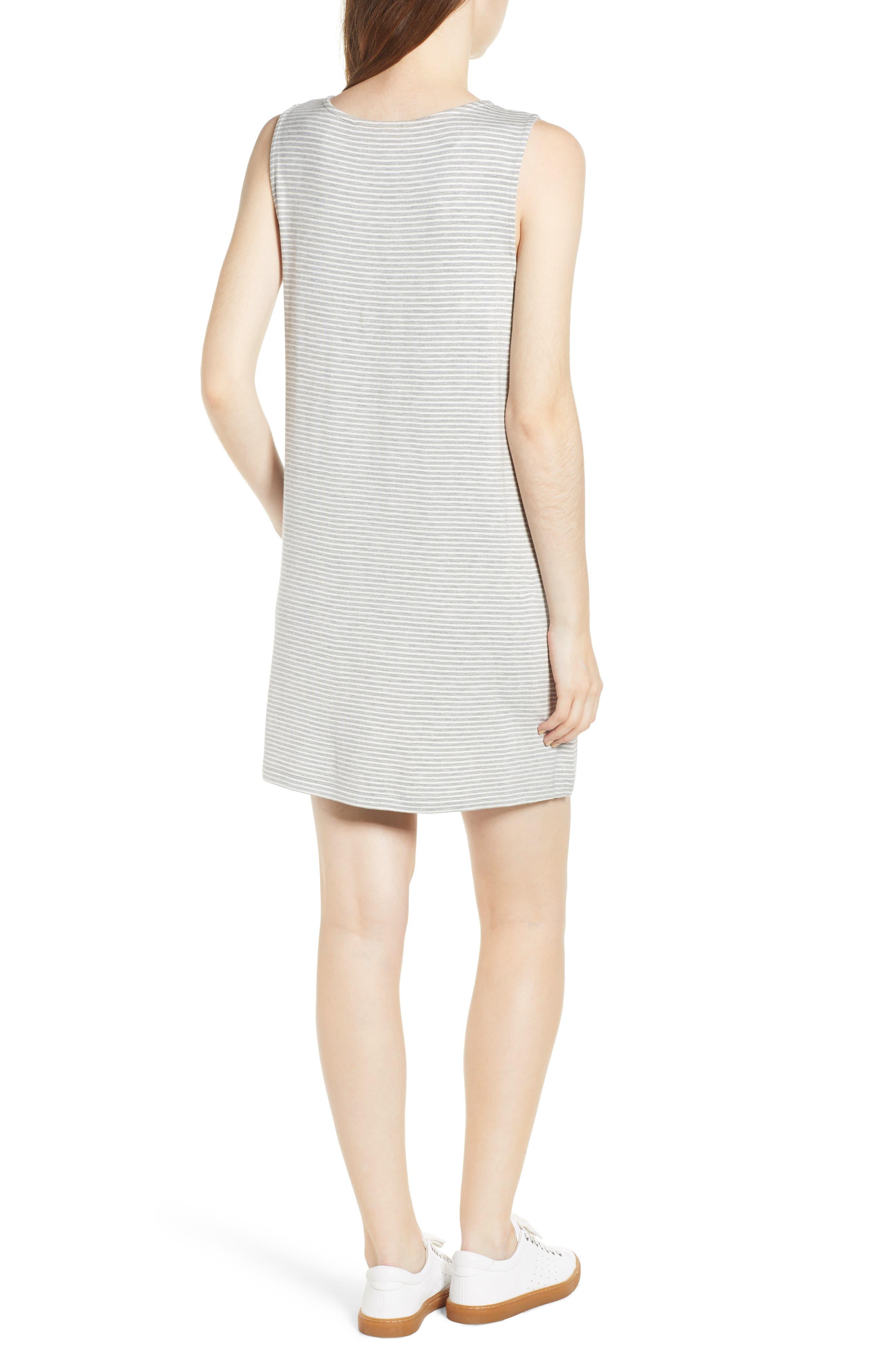 Dedrick Stripe Shift Dress,                             Alternate thumbnail 2, color,                             Light H. Grey