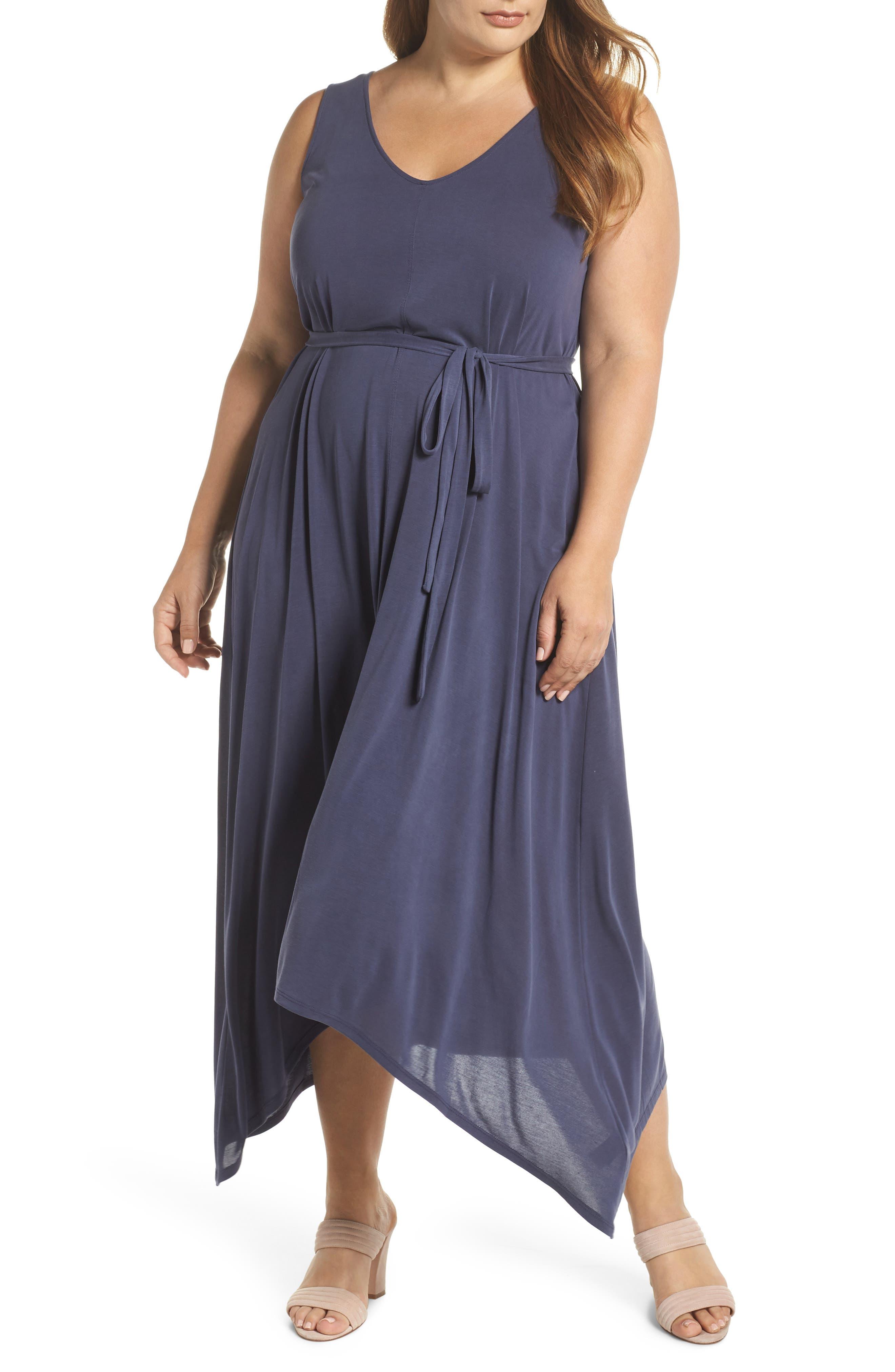 Sandwashed Maxi Dress,                         Main,                         color, Navy