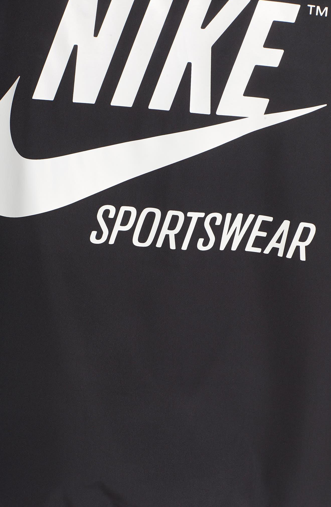 Sportswear Archive Jacket,                             Alternate thumbnail 6, color,                             Black/ Black