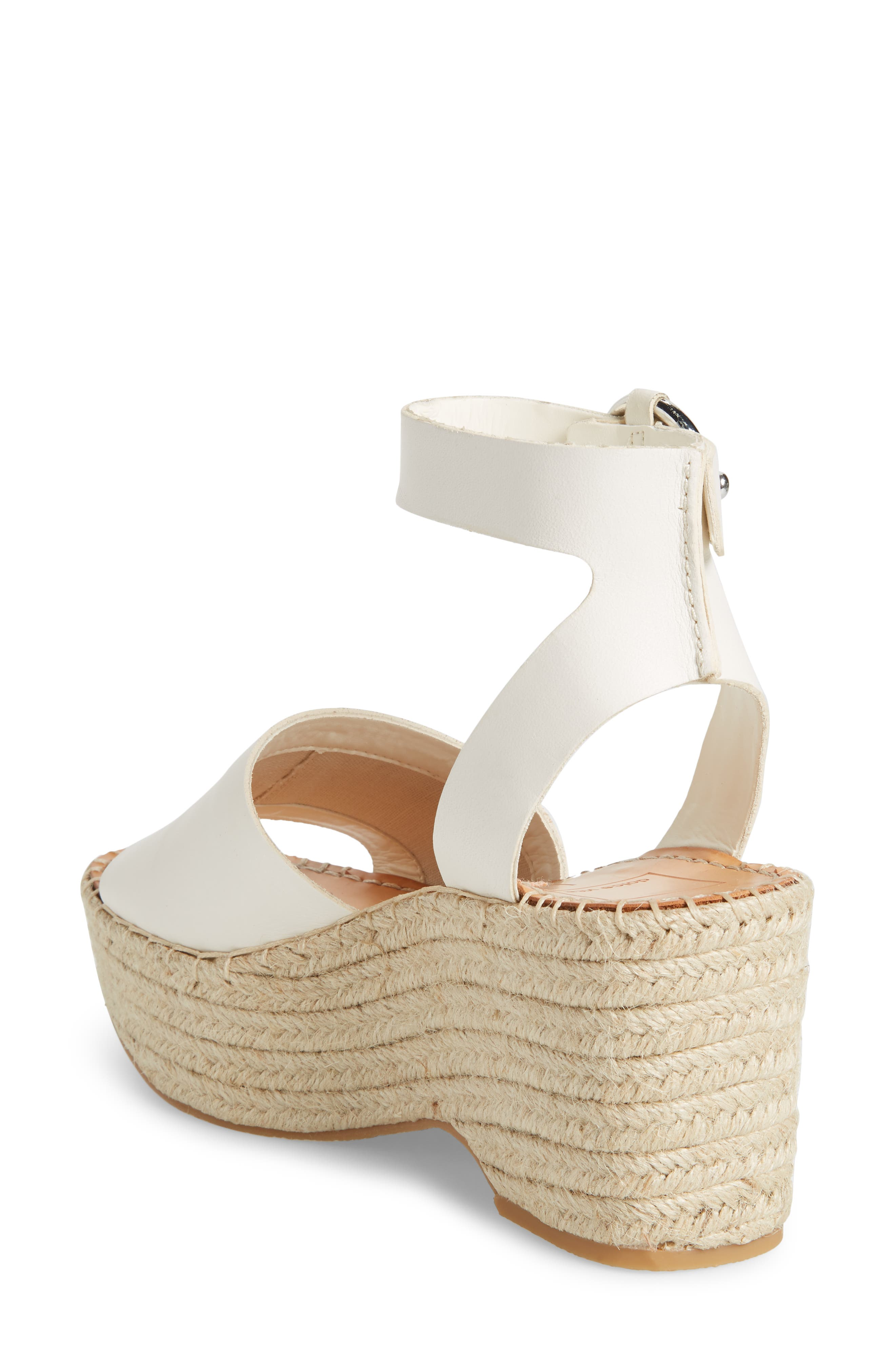 Lesly Espadrille Platform Sandal,                             Alternate thumbnail 2, color,                             Off White
