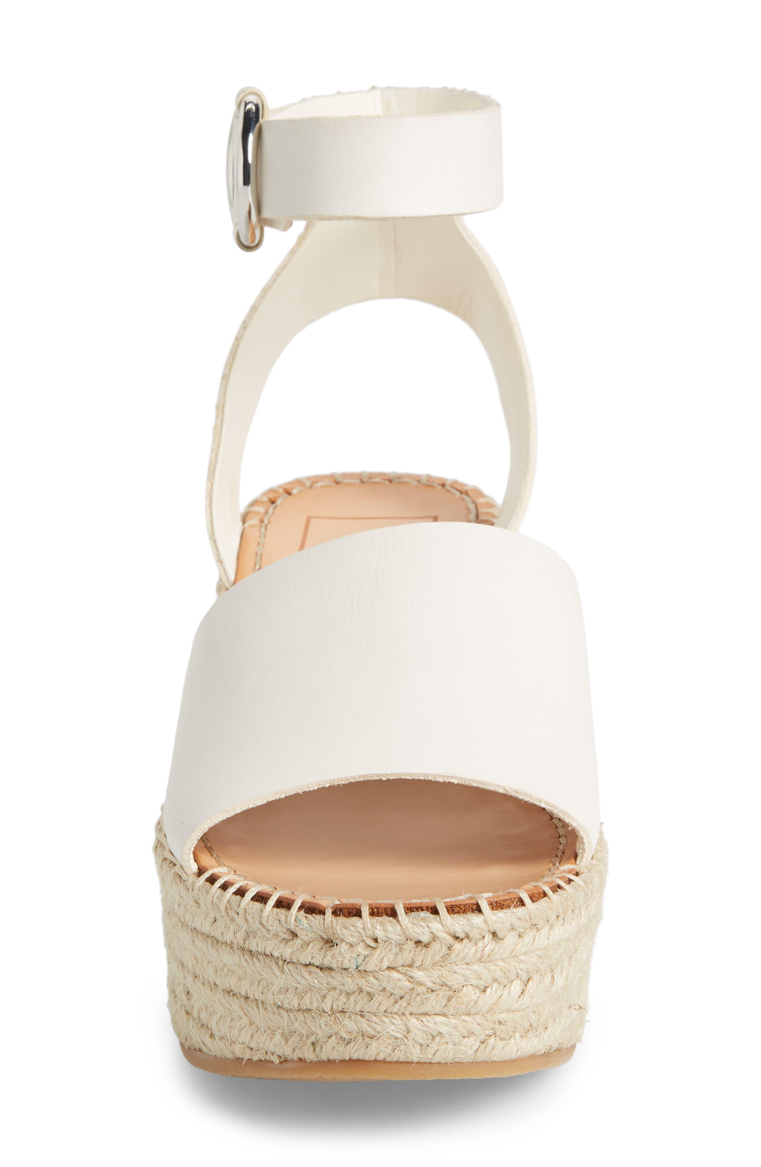 Lesly Espadrille Platform Sandal,                             Alternate thumbnail 4, color,                             Off White