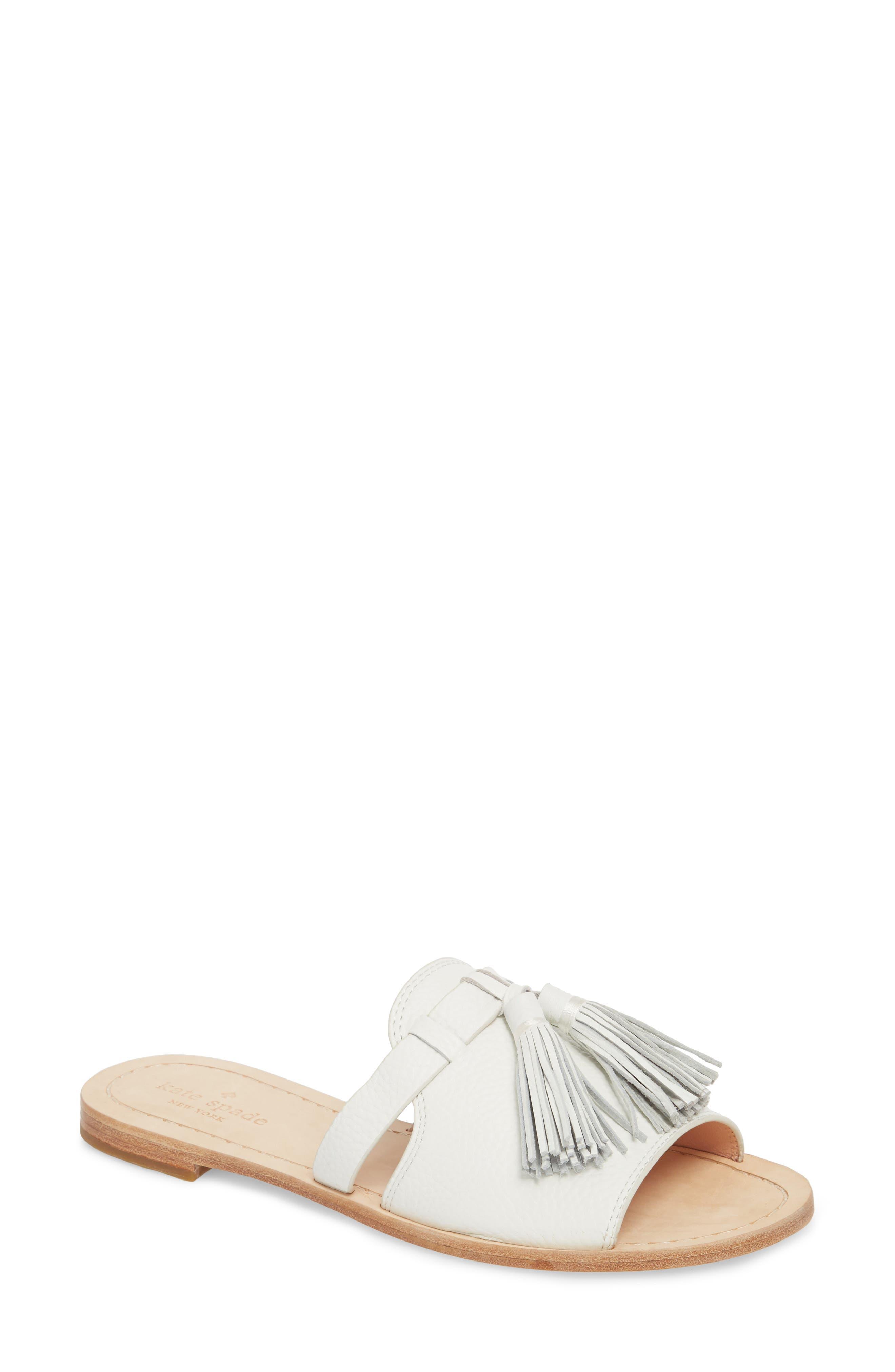 kate spade new york coby tassel slide sandal (Women)