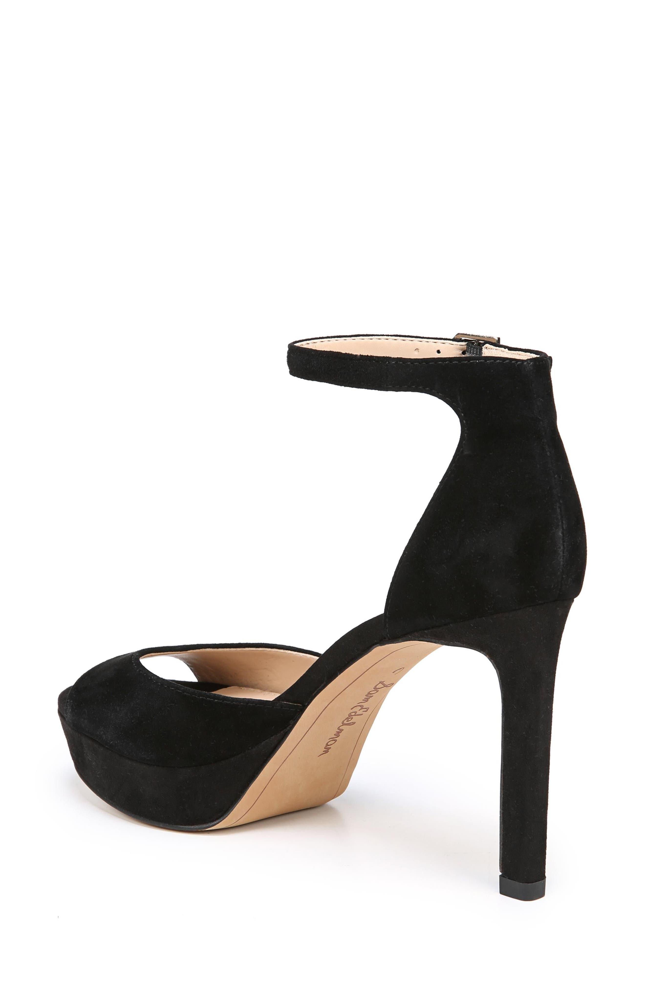 Jerin Platform Sandal,                             Alternate thumbnail 2, color,                             Black Suede