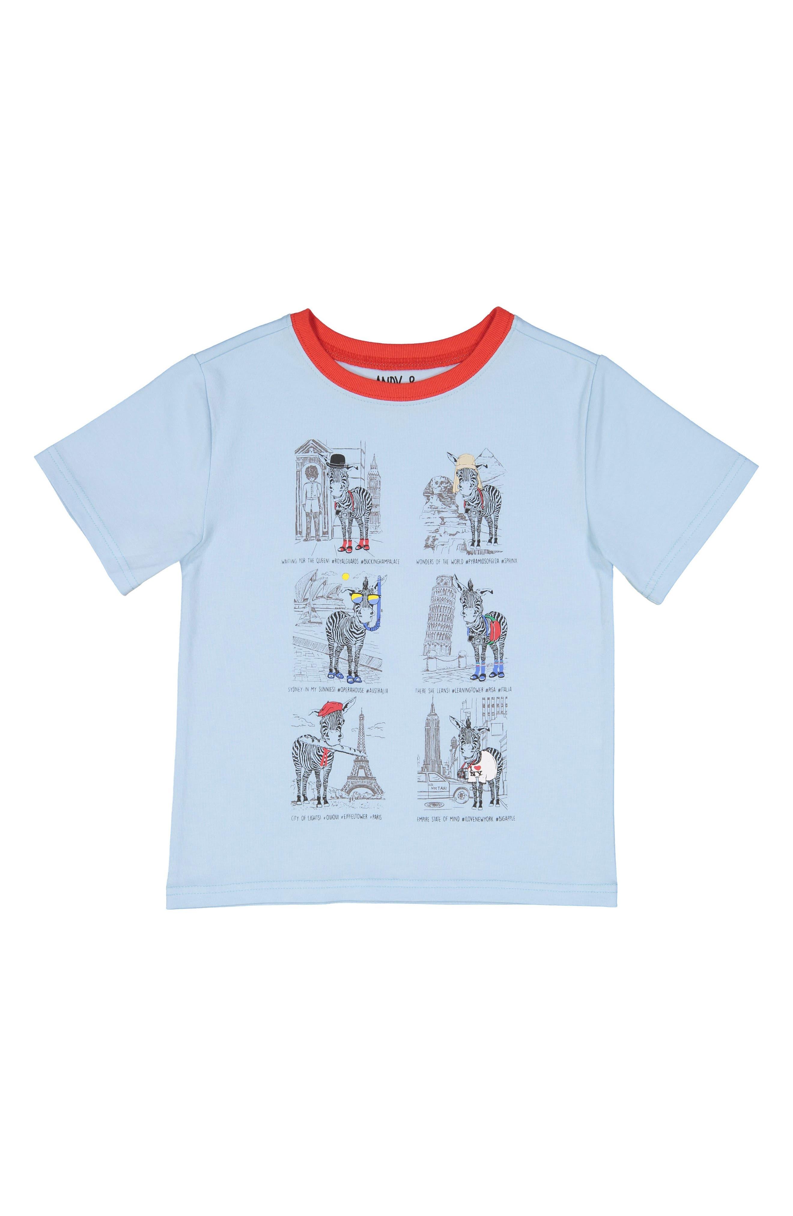 Andy & Evan Zebra Tourist T-Shirt (Baby Boys)