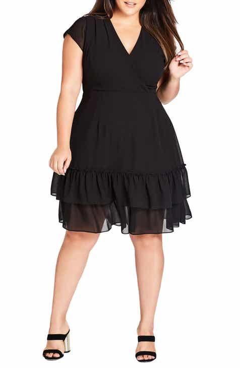 64352a9f32bff City Chic Dreamy Fit   Flare Dress (Plus Size)