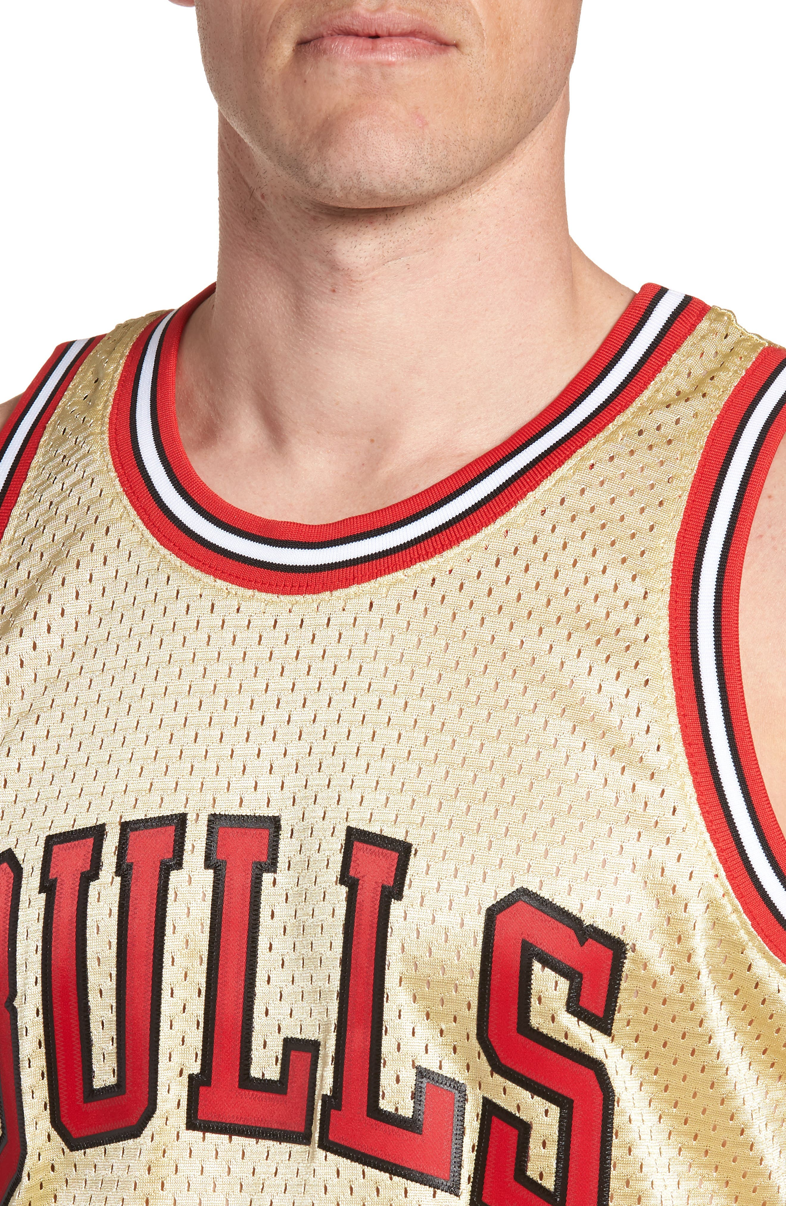 NBA Gold Pippen Jersey,                             Alternate thumbnail 4, color,                             Gold