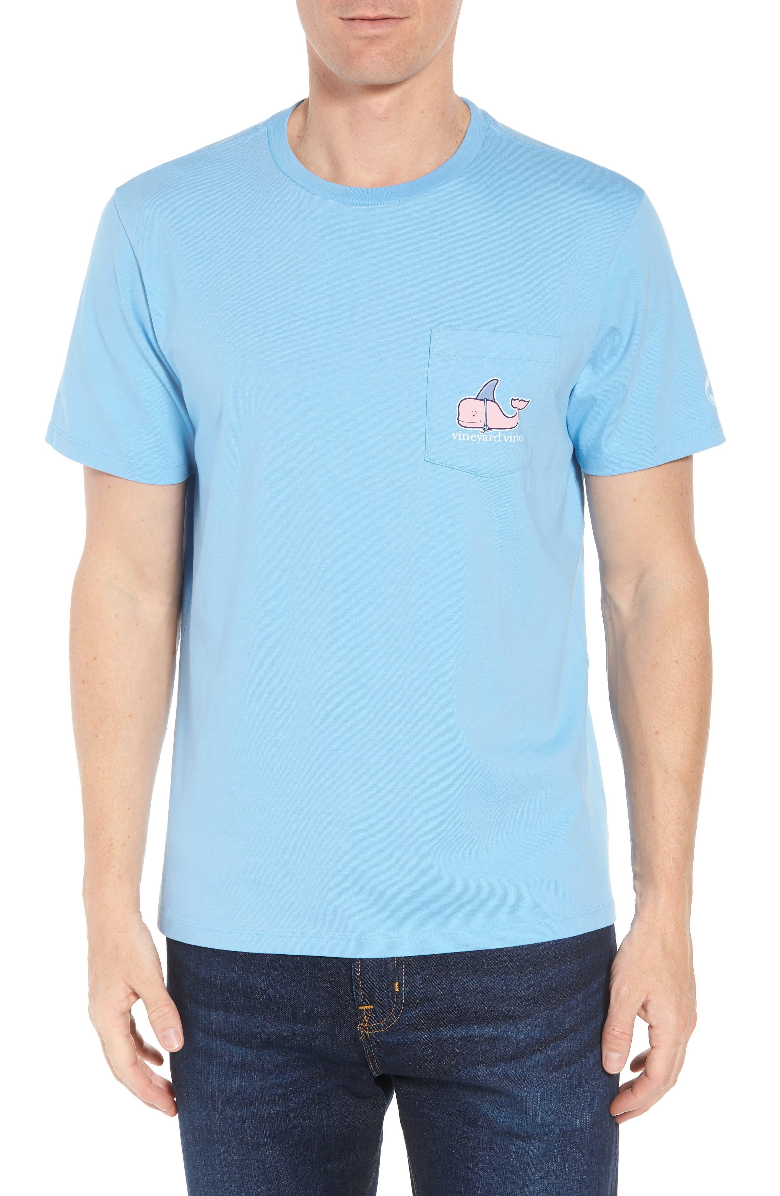 x Shark Week<sup>™</sup> Decoy Whale Pocket T-Shirt,                             Main thumbnail 1, color,                             Ocean Breeze