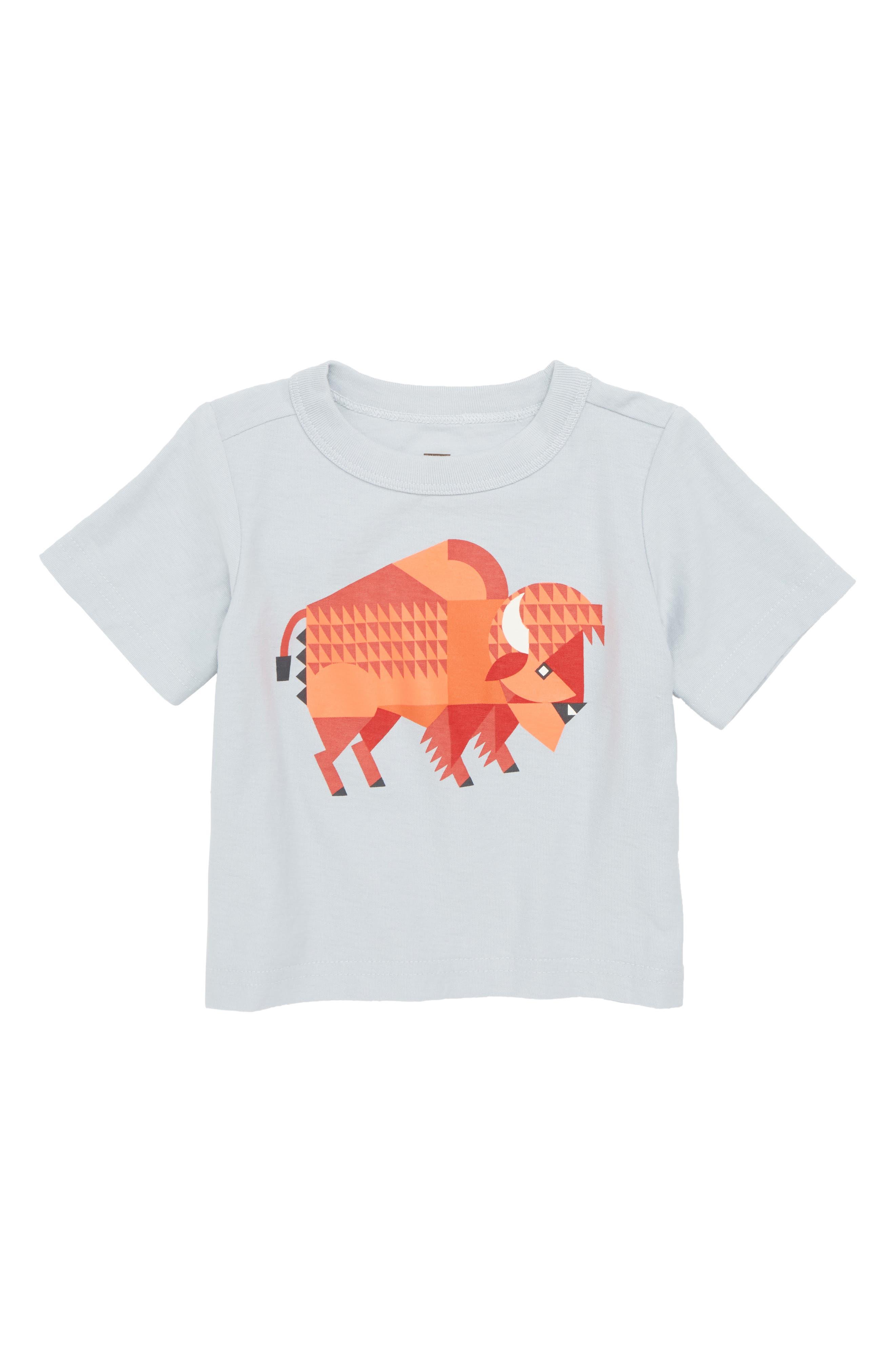 Bison T-Shirt,                         Main,                         color, Horizon