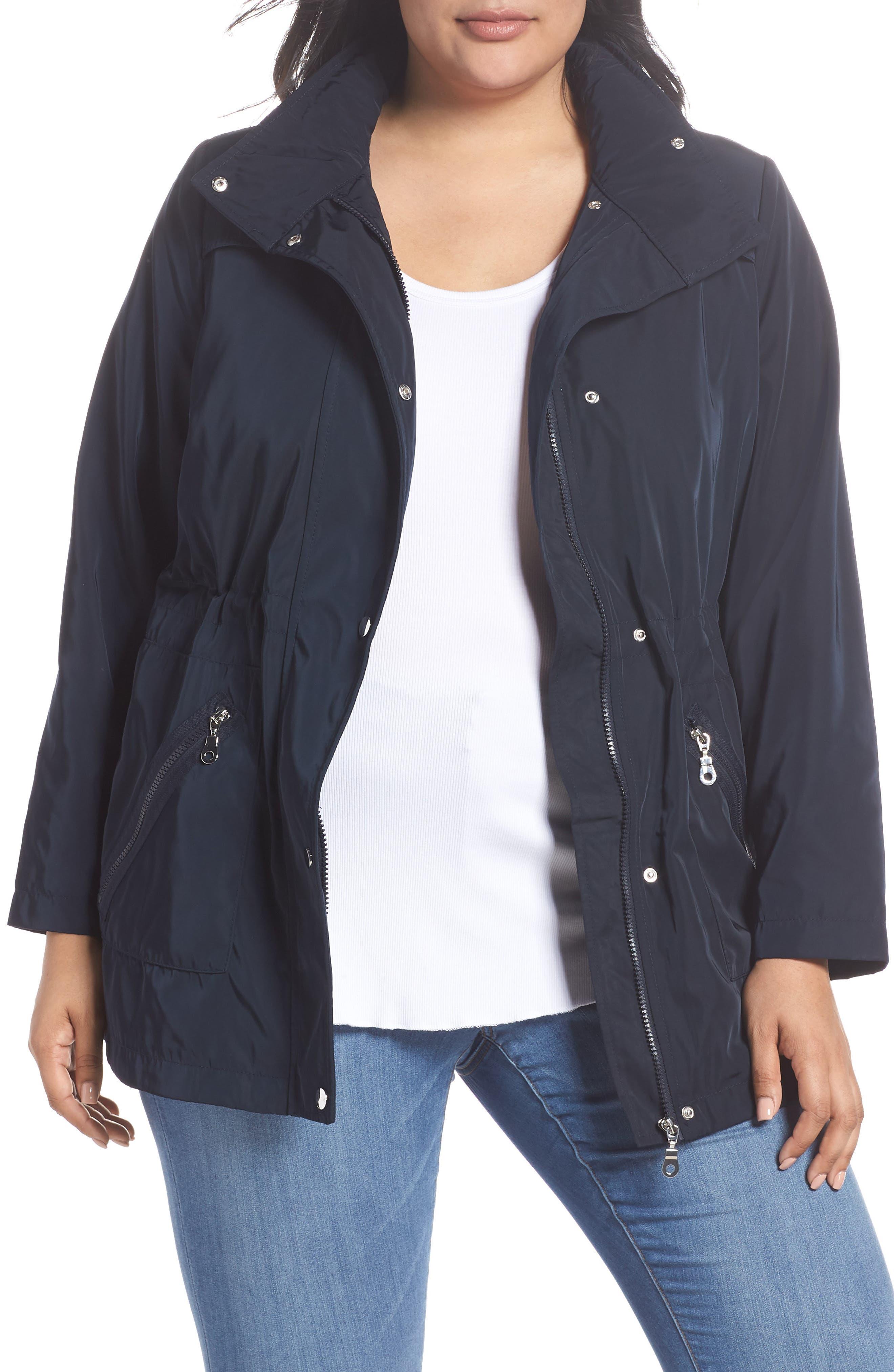 Zip Trim Jacket,                         Main,                         color, Navy Blue