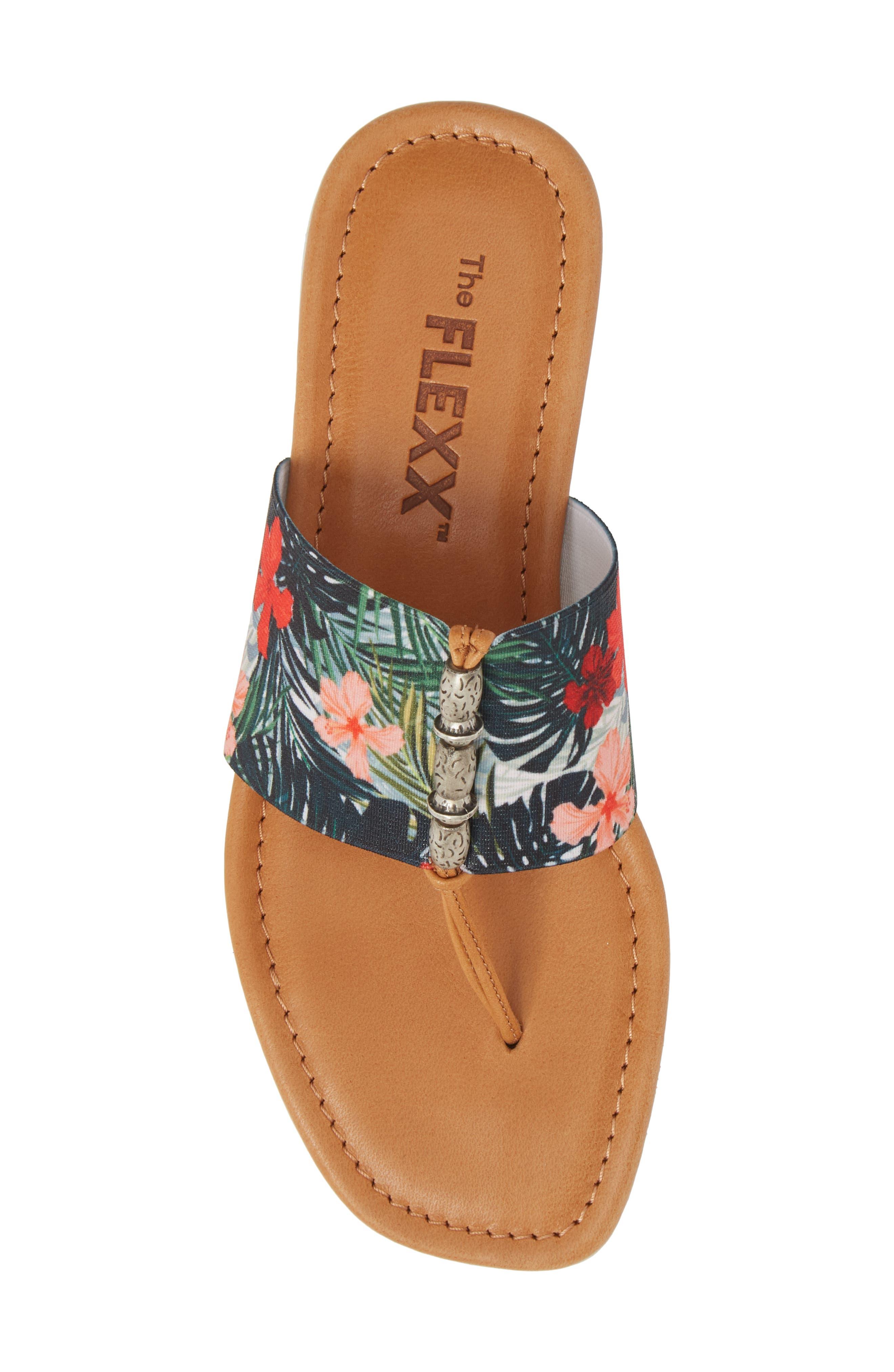Rain Maker Sandal,                             Alternate thumbnail 5, color,                             Cognac Tropical Leather