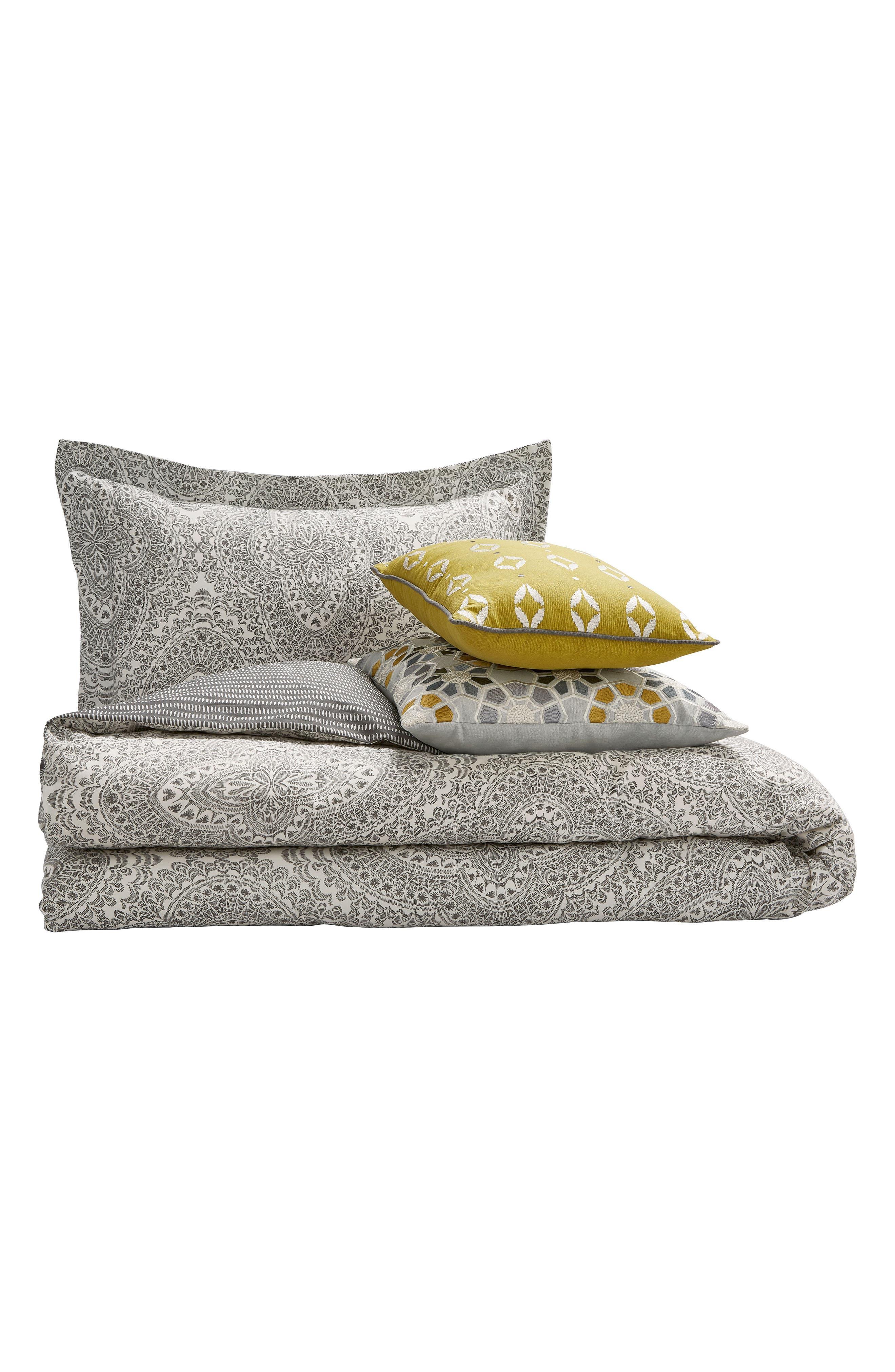Ziba Duvet Cover, Sham & Accent Pillow Set,                             Alternate thumbnail 2, color,                             Grey