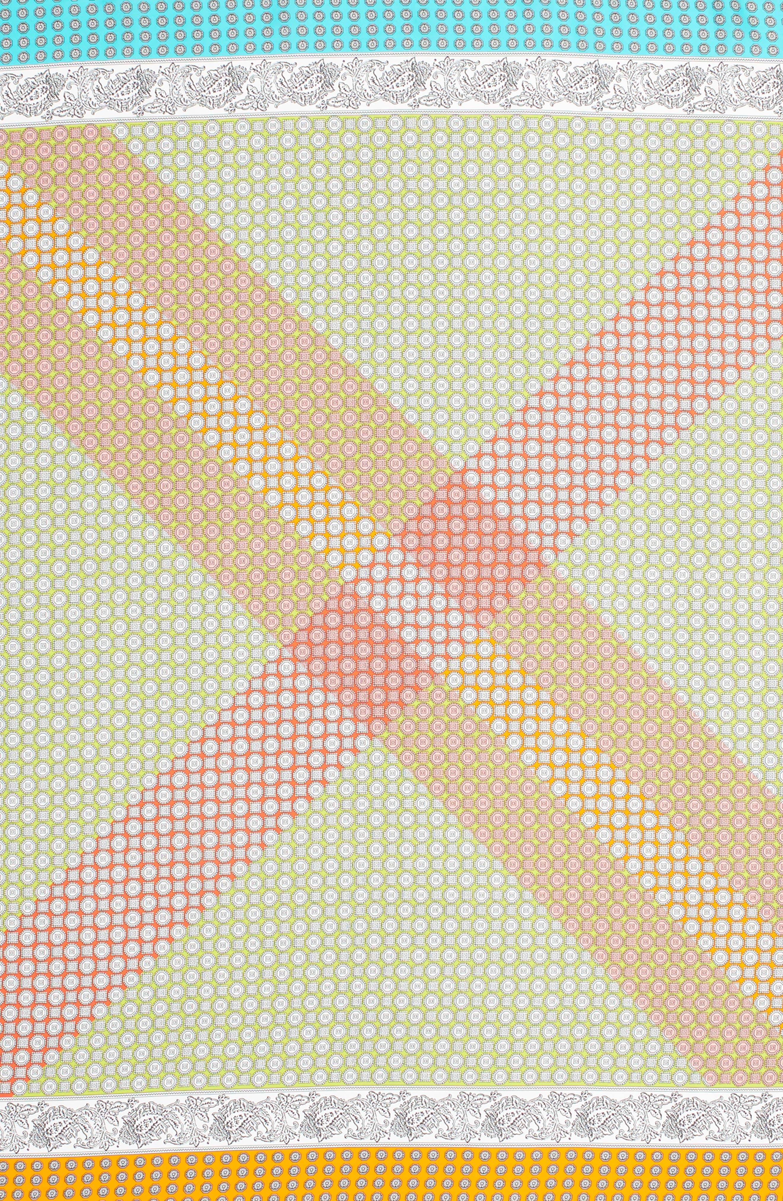 Harbour Foulard Square Silk Scarf,                             Alternate thumbnail 3, color,                             Multi