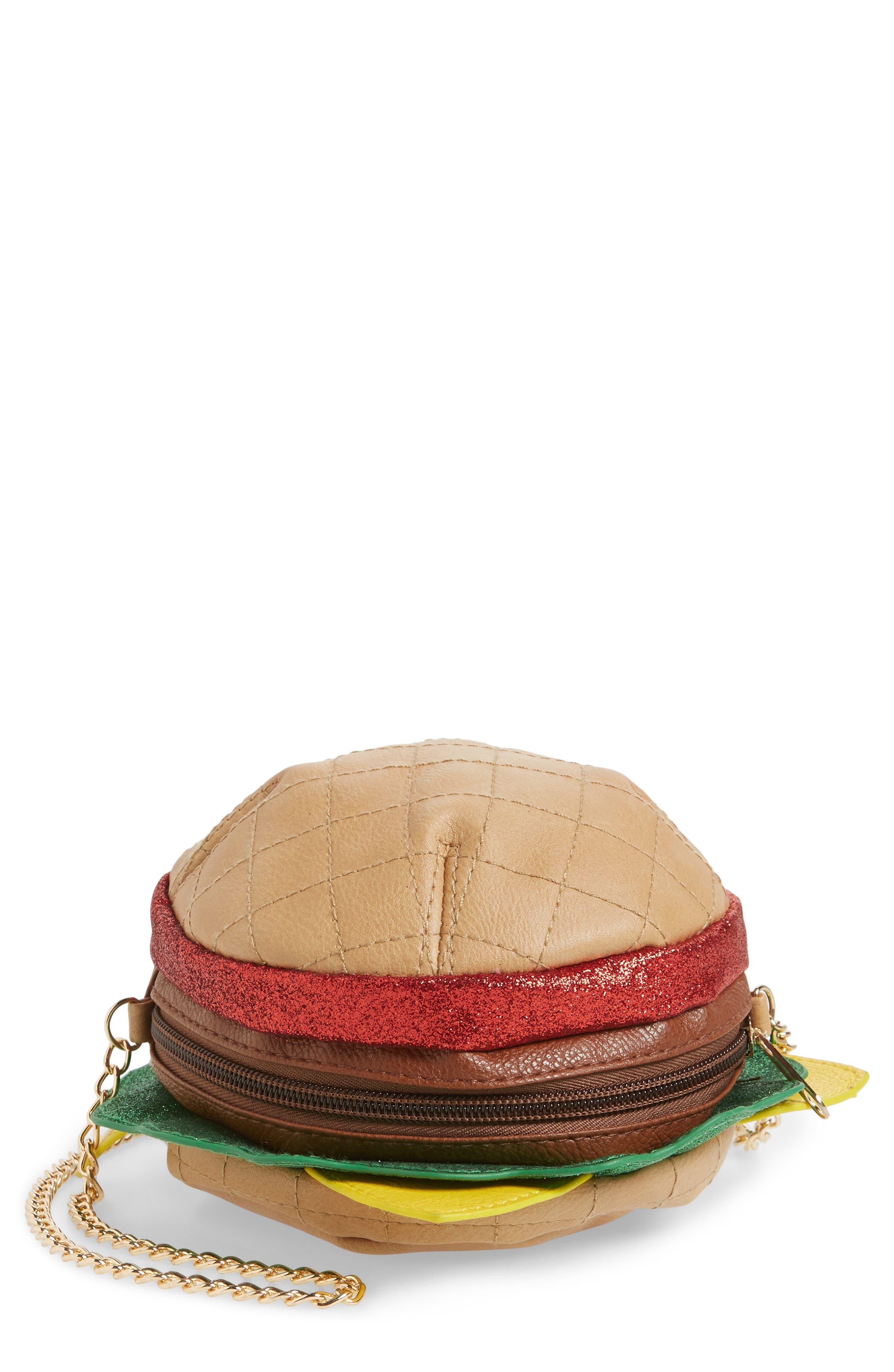 Hamburger Crossbody Bag,                         Main,                         color, Multi Combo