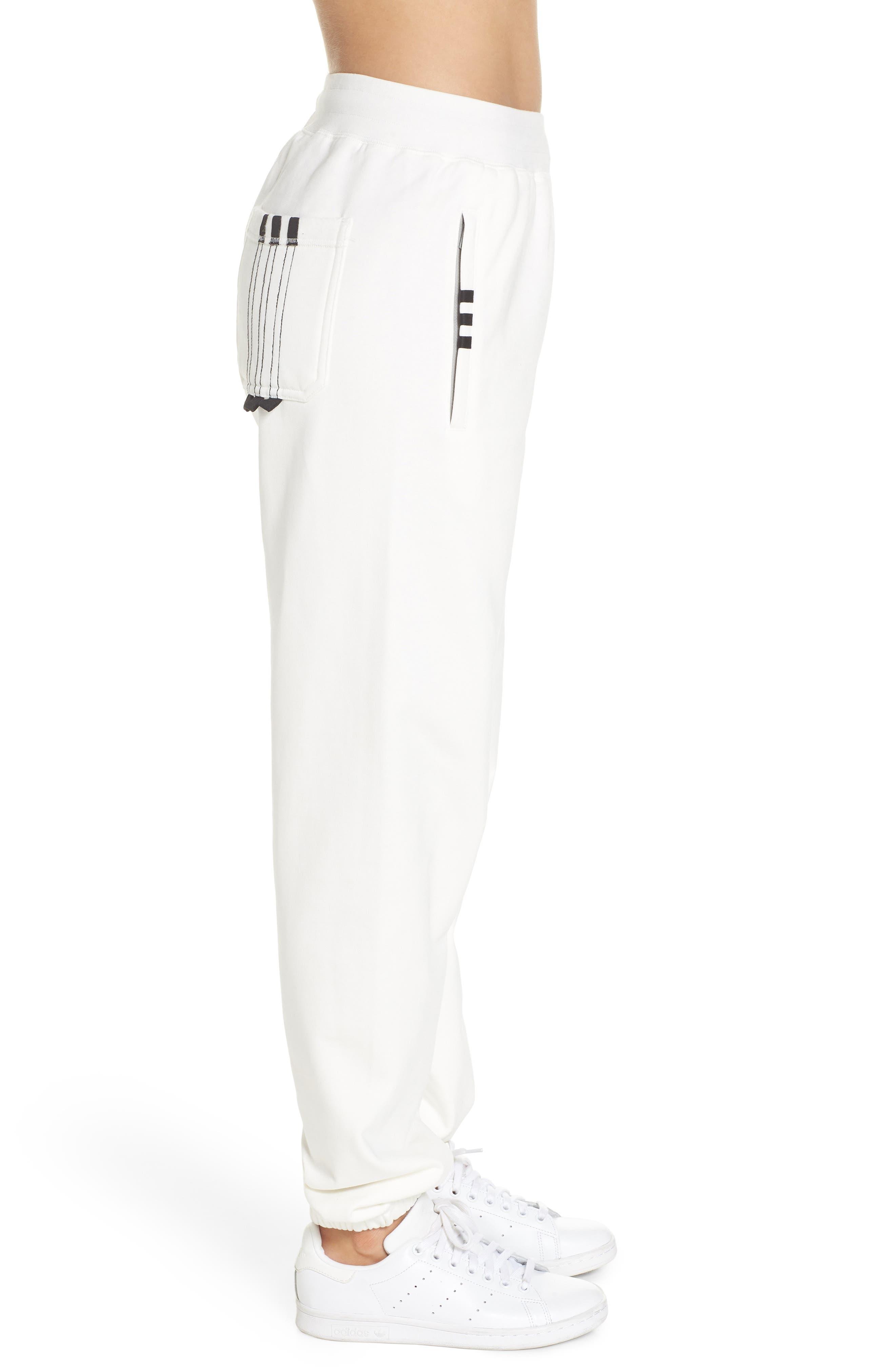 Graphite Jogger Pants,                             Alternate thumbnail 3, color,                             White/ Orange/ Black