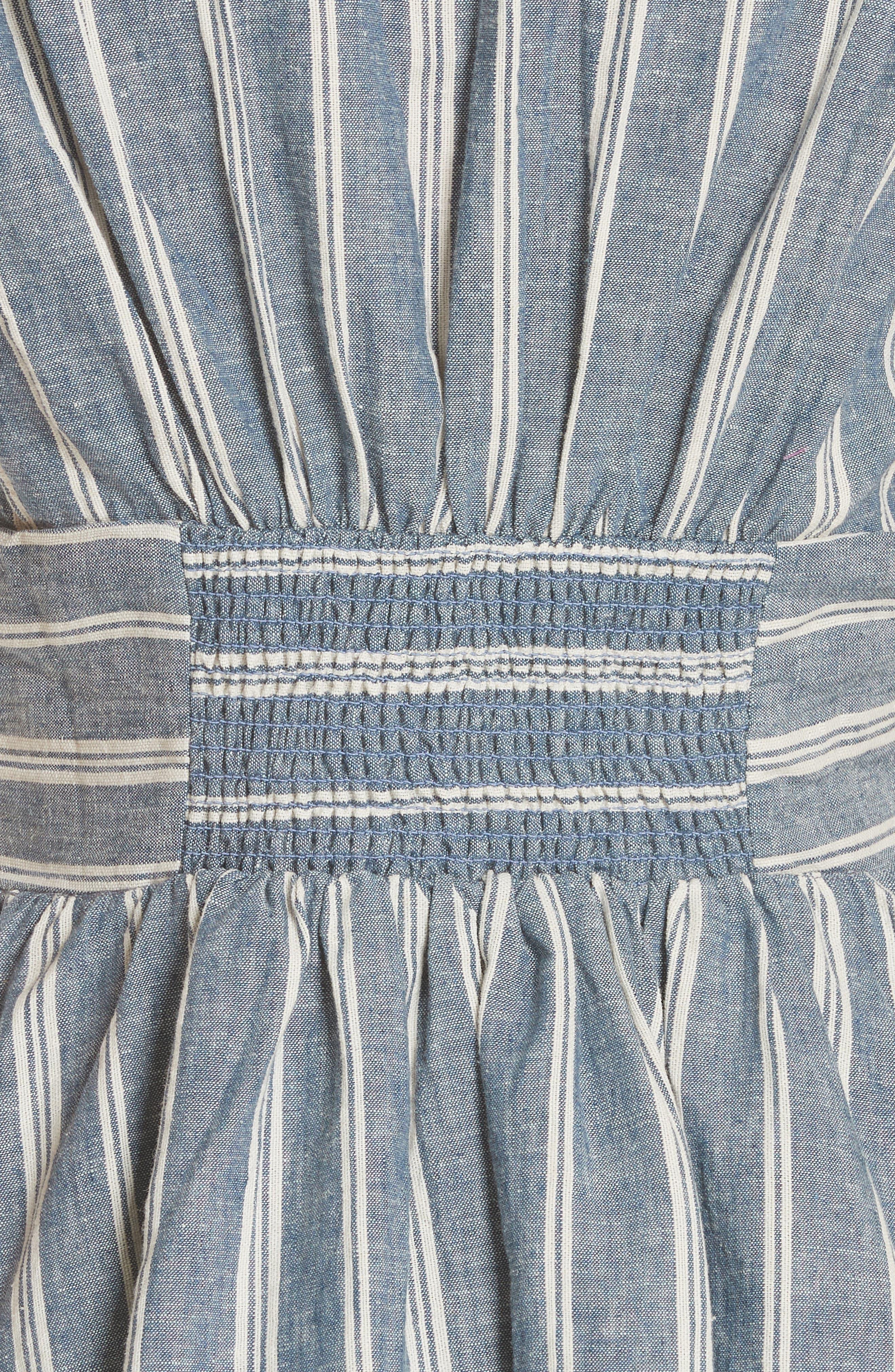 Roll the Dice Stripe Dress,                             Alternate thumbnail 5, color,                             Blue