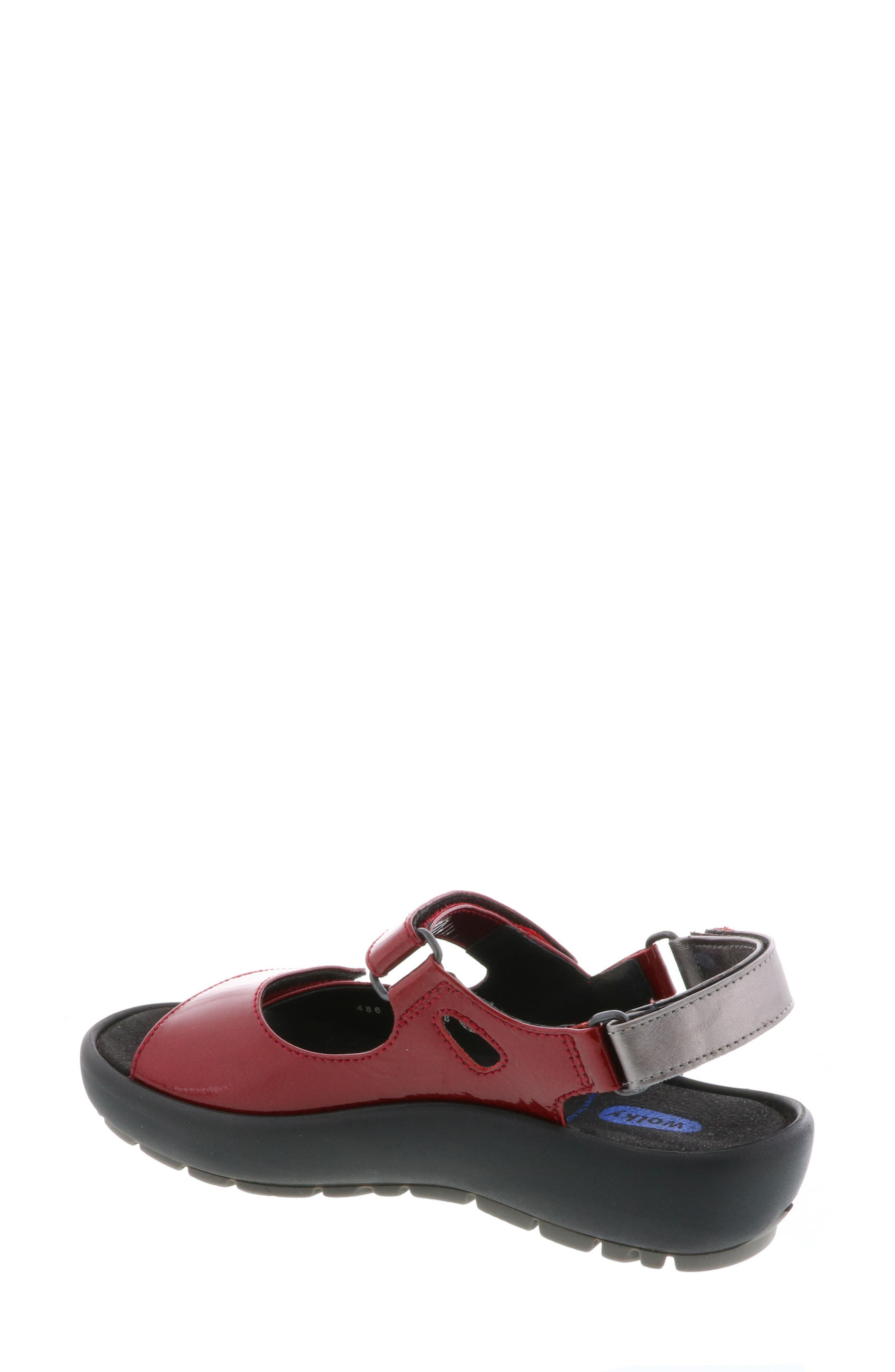 Rio Sandal,                             Alternate thumbnail 2, color,                             Red Patent Leather