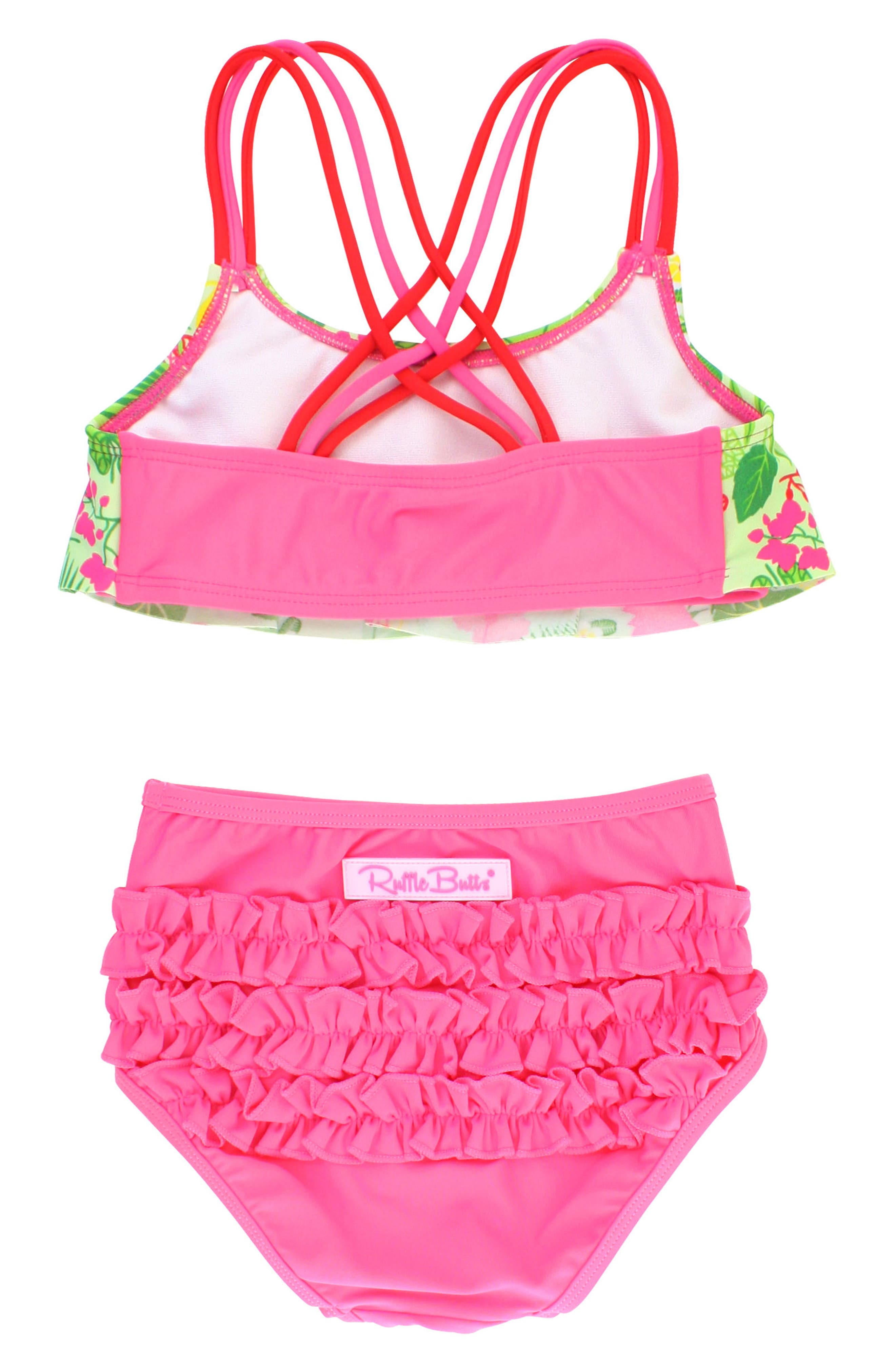 Puerto Vallarta Flounce Two-Piece Swimsuit,                             Alternate thumbnail 2, color,                             Candy