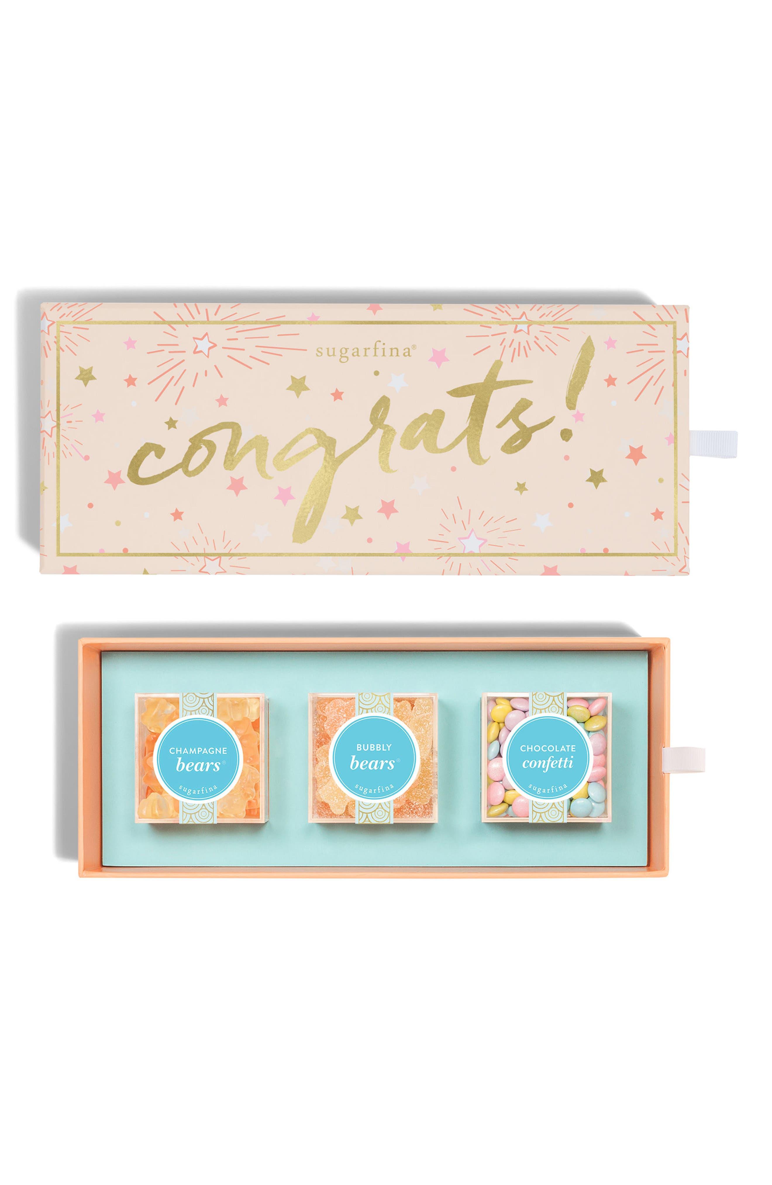 sugarfina Congrats 3-Piece Candy Bento Box