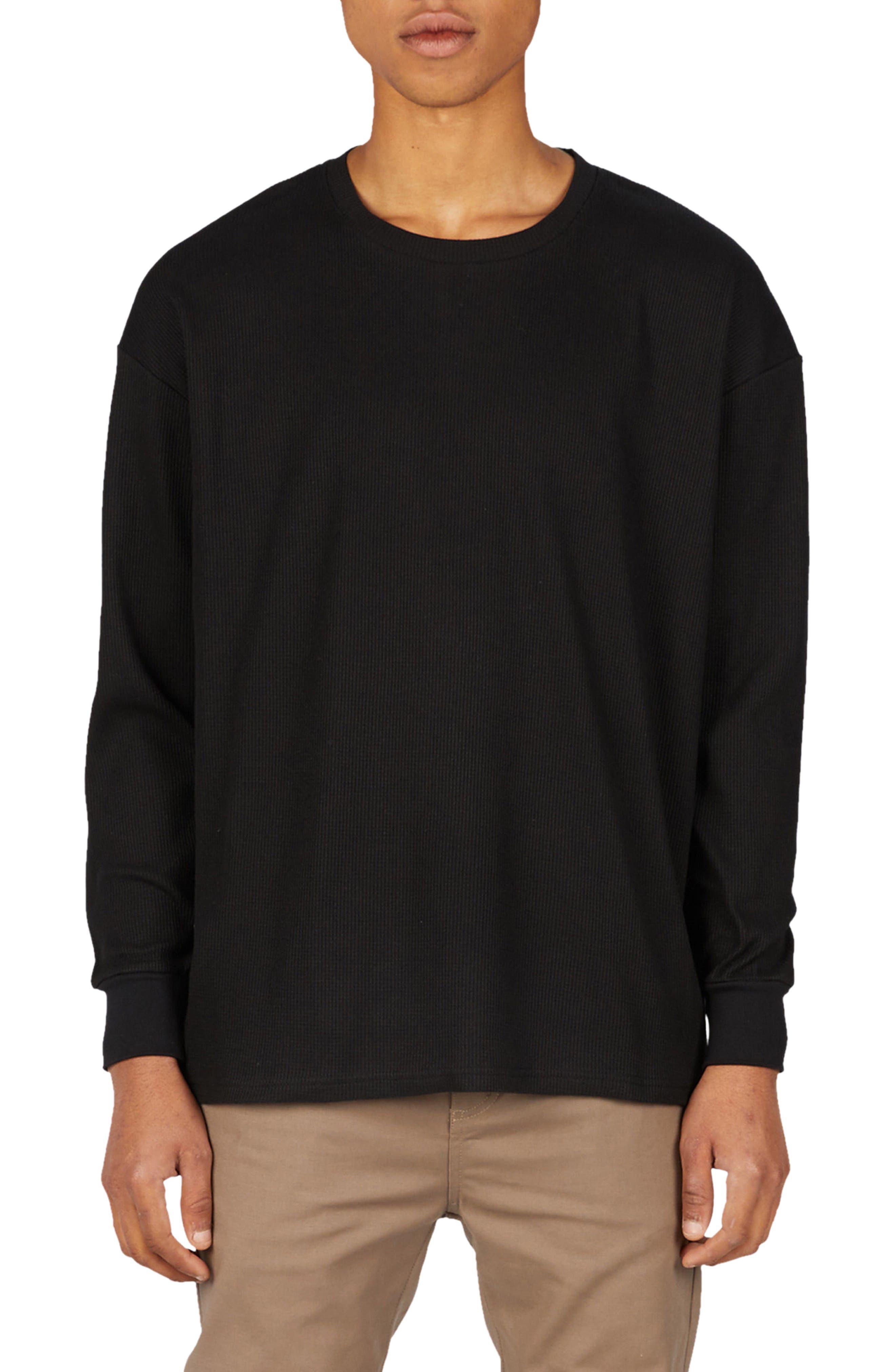 Waffle Rugger T-Shirt,                         Main,                         color, Black