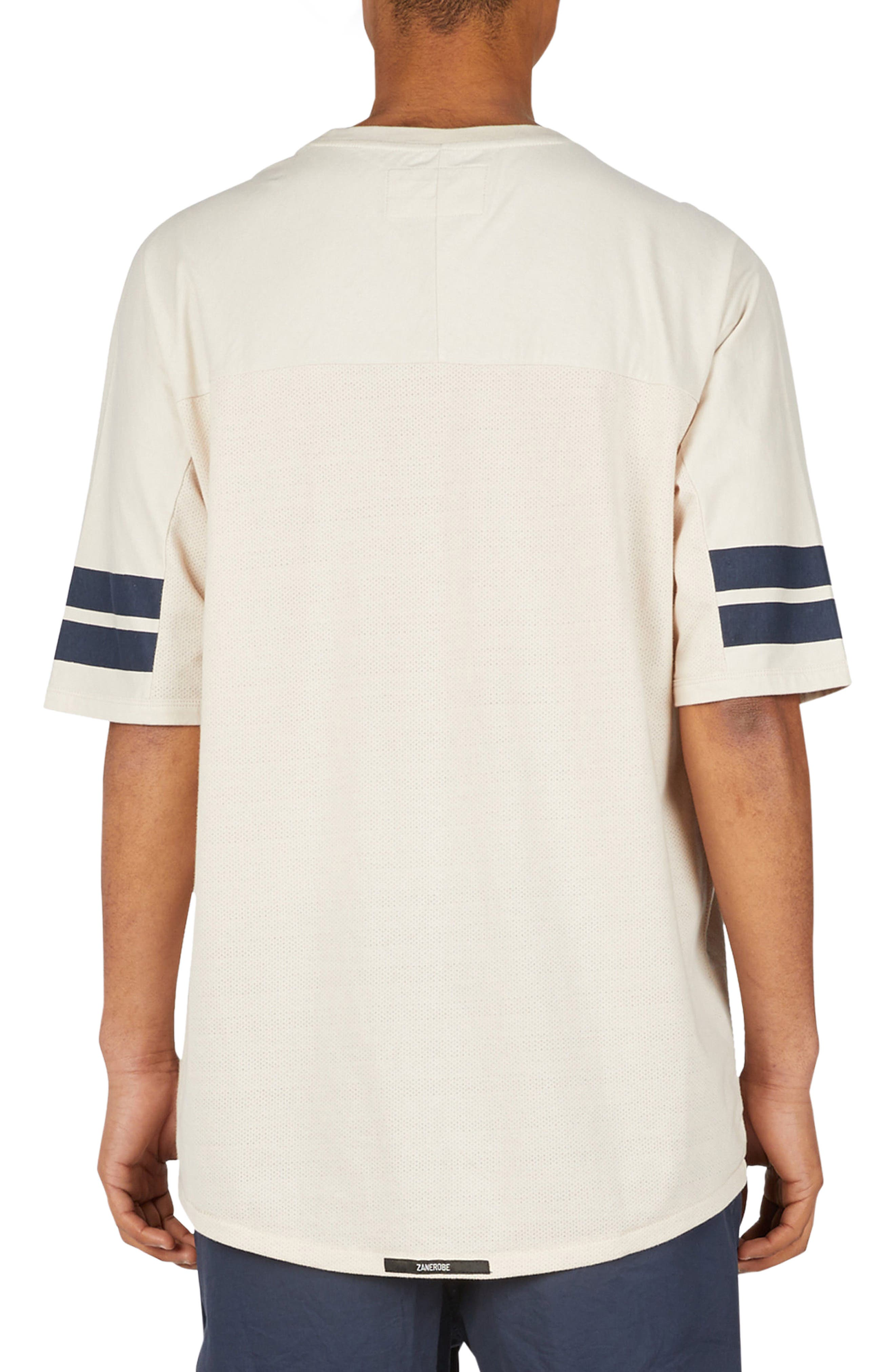 Quarterback Rugger T-Shirt,                             Alternate thumbnail 2, color,                             Natural