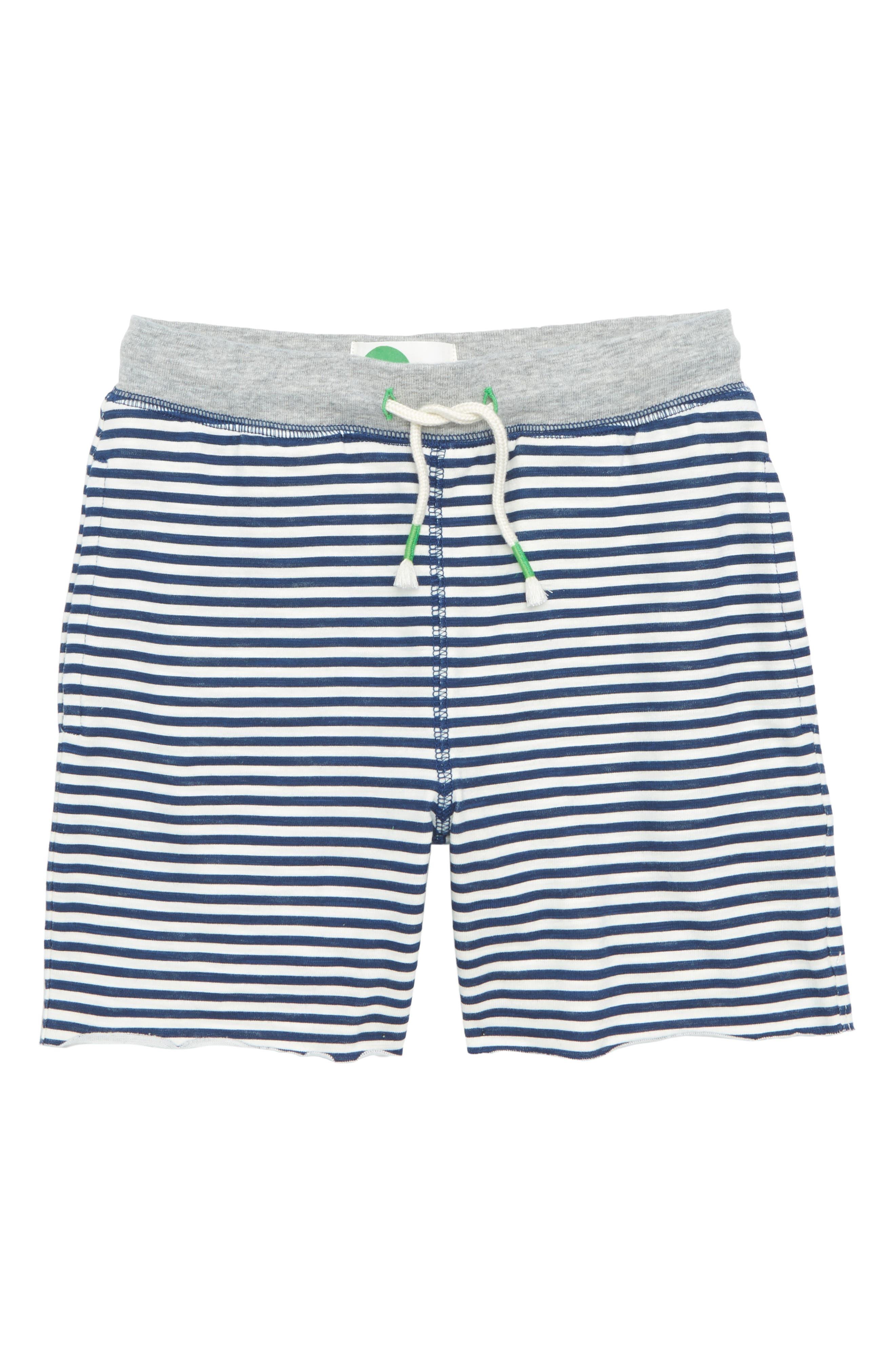 Slub Jersey Shorts,                         Main,                         color, Beacon Blue/ Ivory