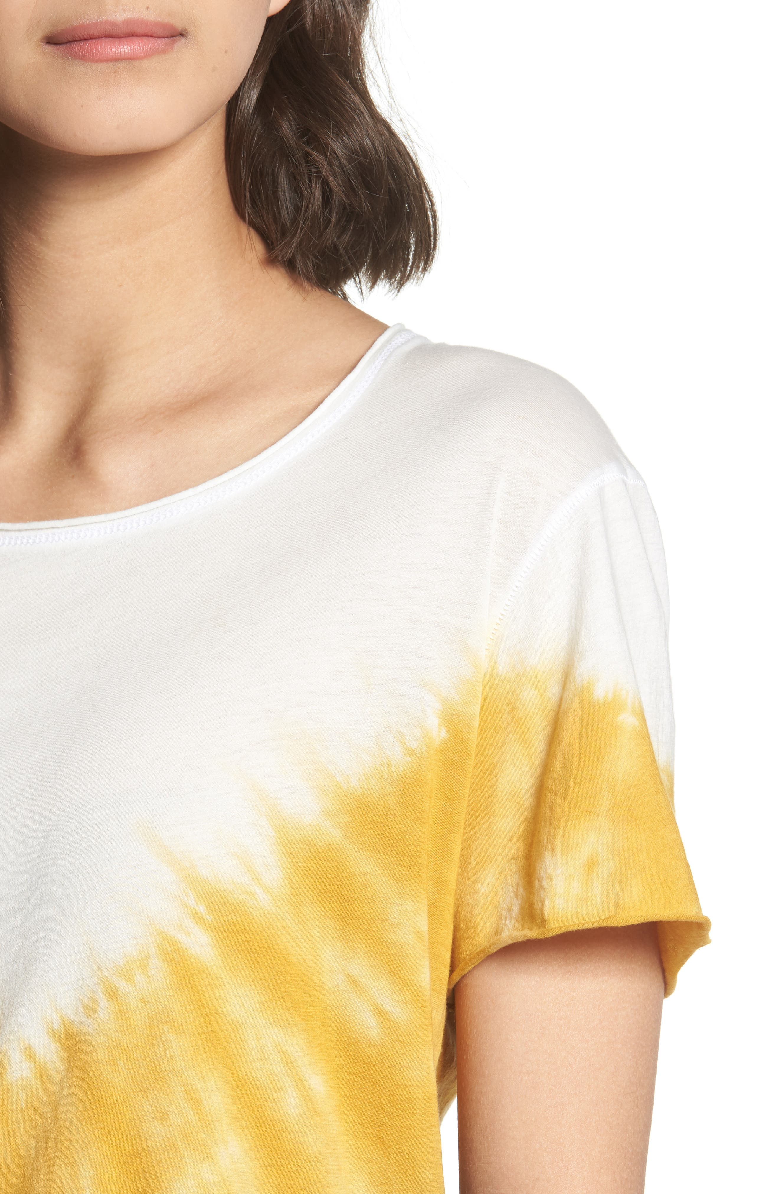 Tie Dye Tee,                             Alternate thumbnail 4, color,                             Ivory/ Yellow/ Blue A/ S
