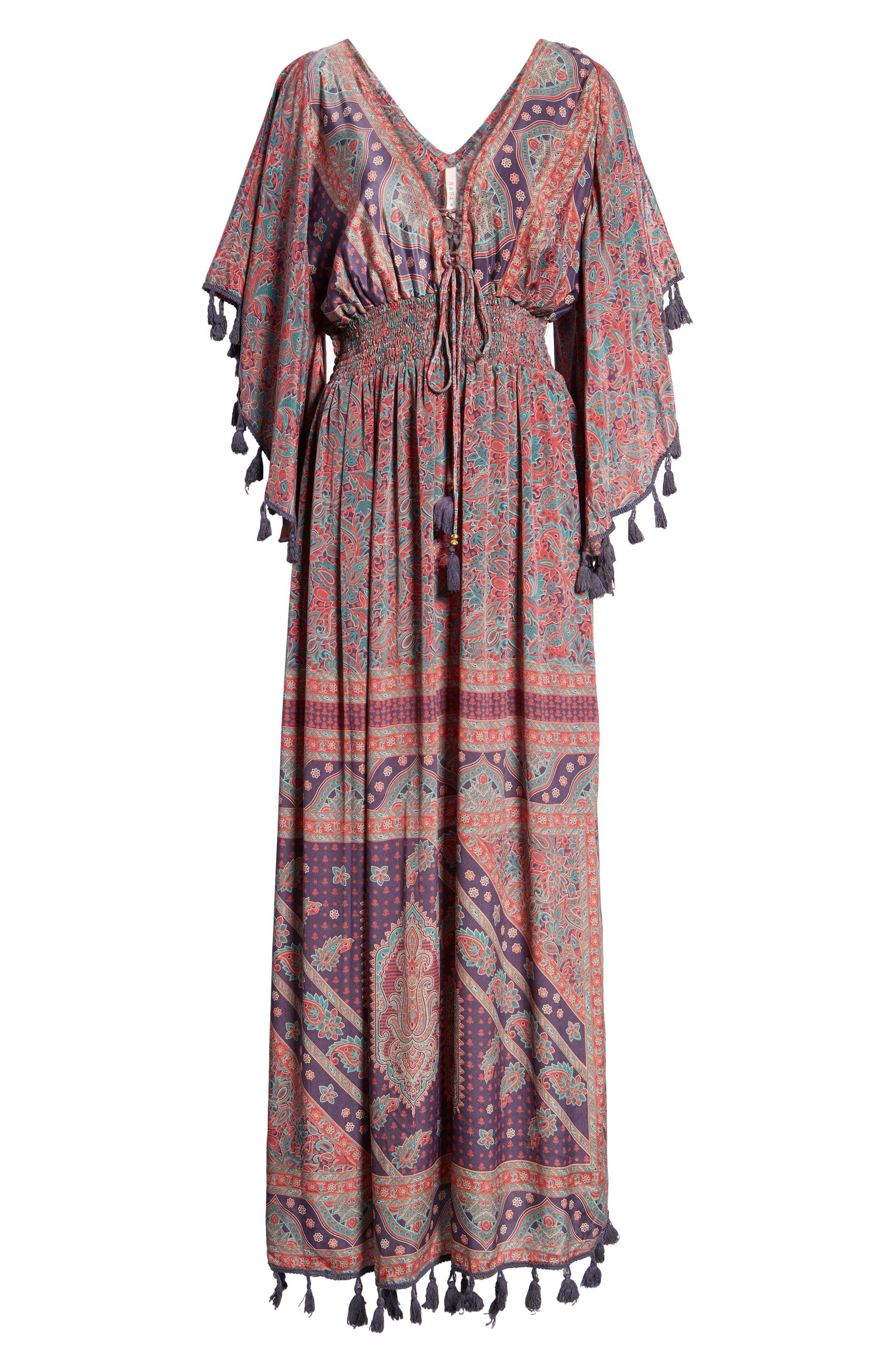 Electric Love Maxi Dress,                             Alternate thumbnail 7, color,                             Multi