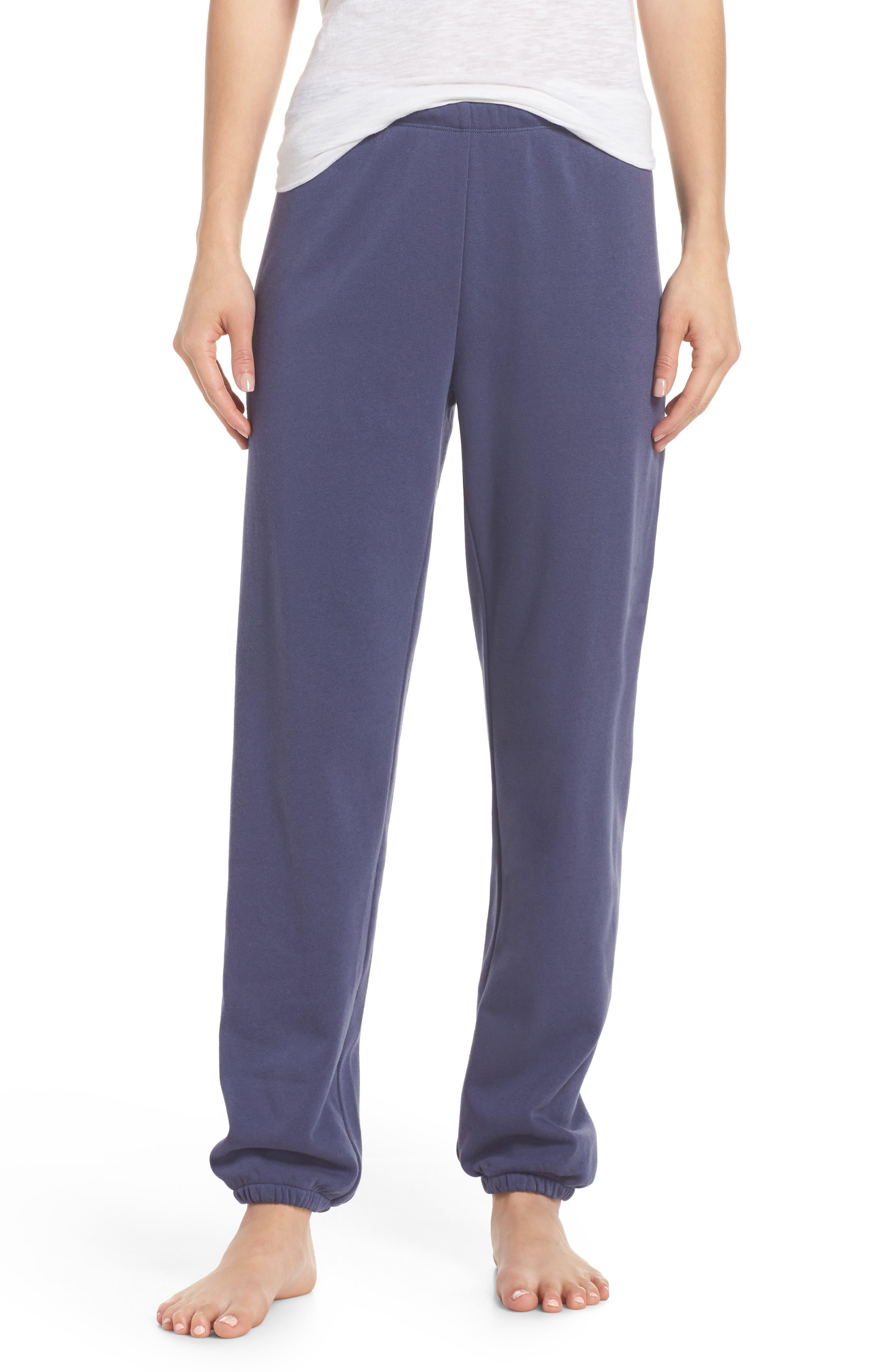 Sleepy High Rise Lounge Jogger Pants,                             Main thumbnail 1, color,                             Blue Indigo
