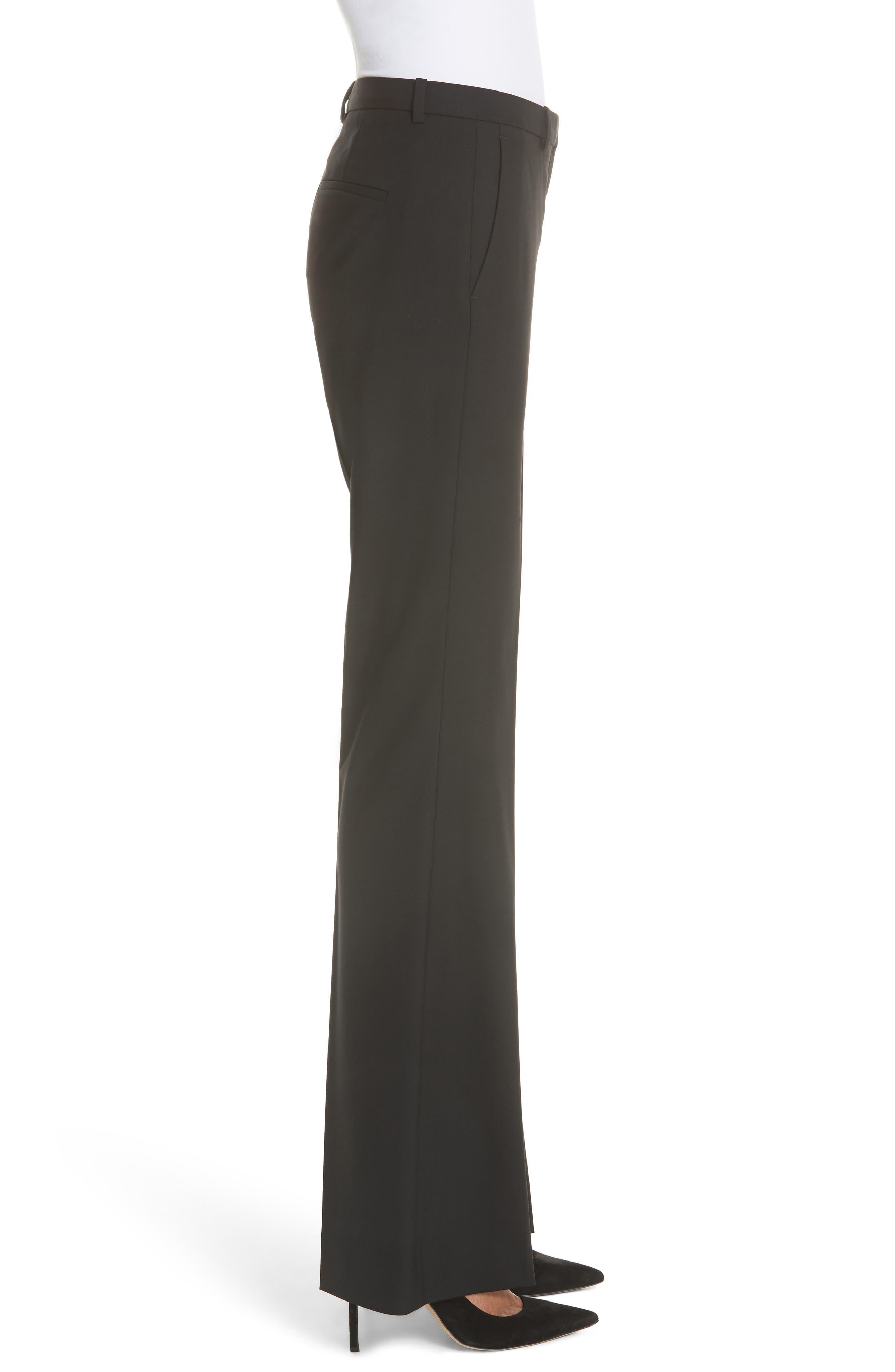 Demitria 2 Stretch Wool Suit Pants,                             Alternate thumbnail 3, color,                             Black