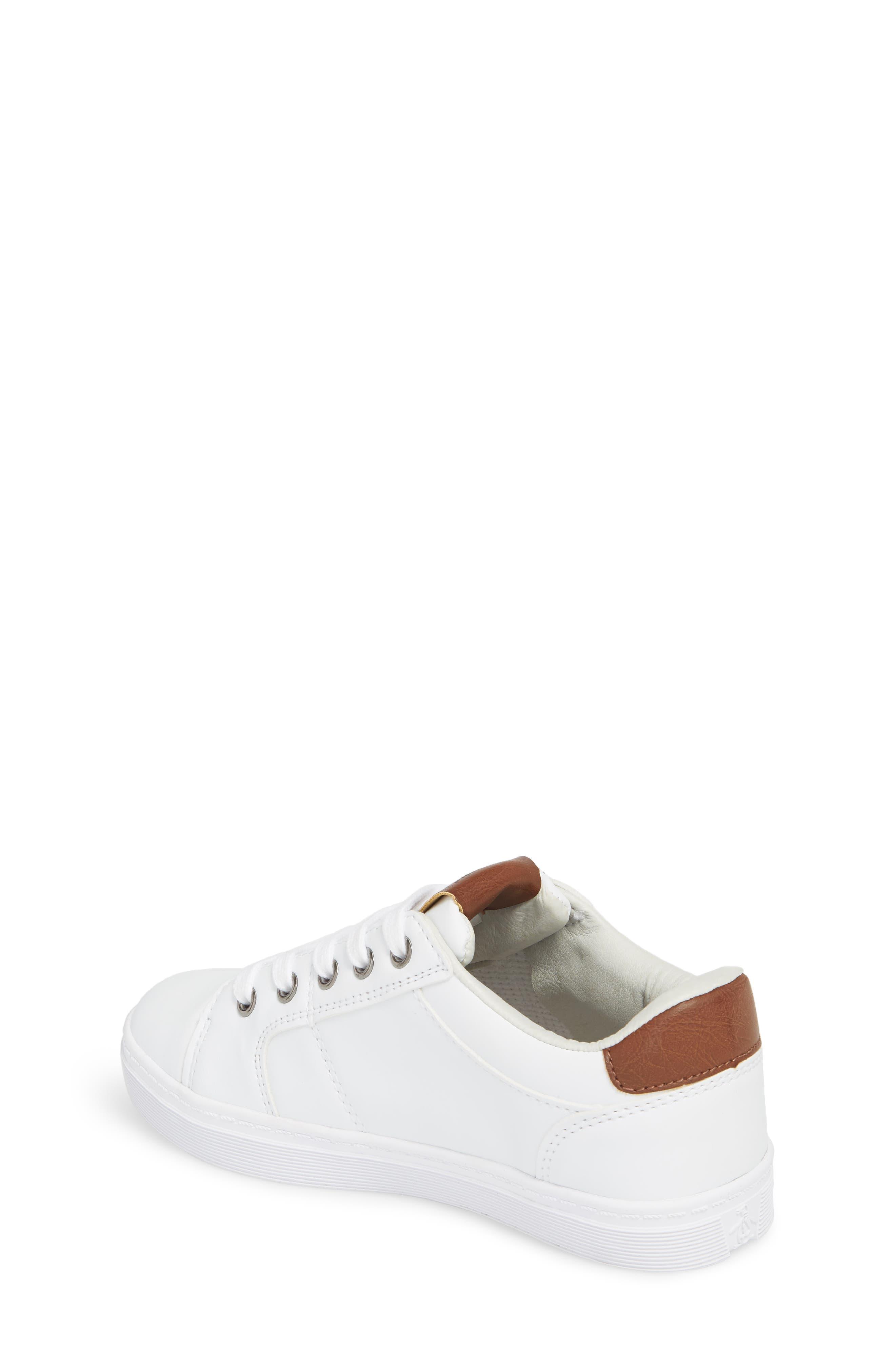 Cobin Sneaker,                             Alternate thumbnail 2, color,                             White/ Cognac