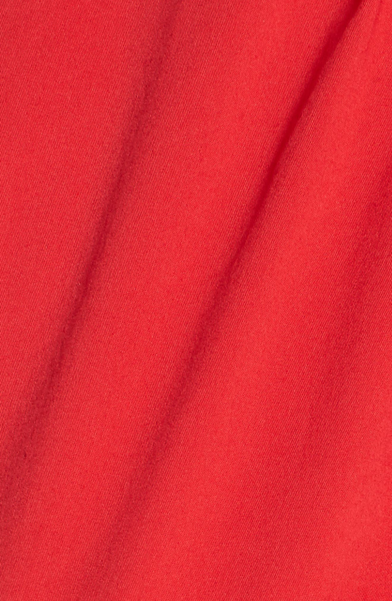 Corsage Detail Shell,                             Alternate thumbnail 5, color,                             Red Chinoise