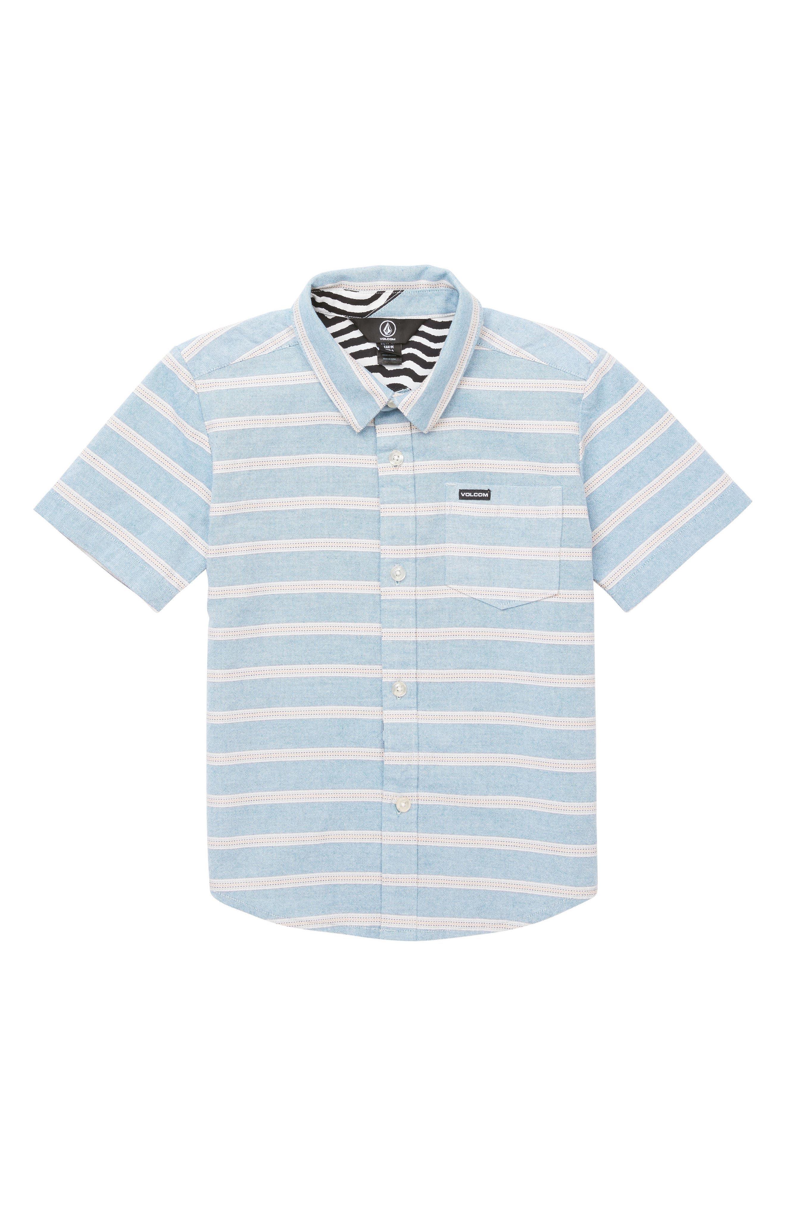 Branson Stripe Woven Shirt,                             Main thumbnail 1, color,                             Vintage Blue