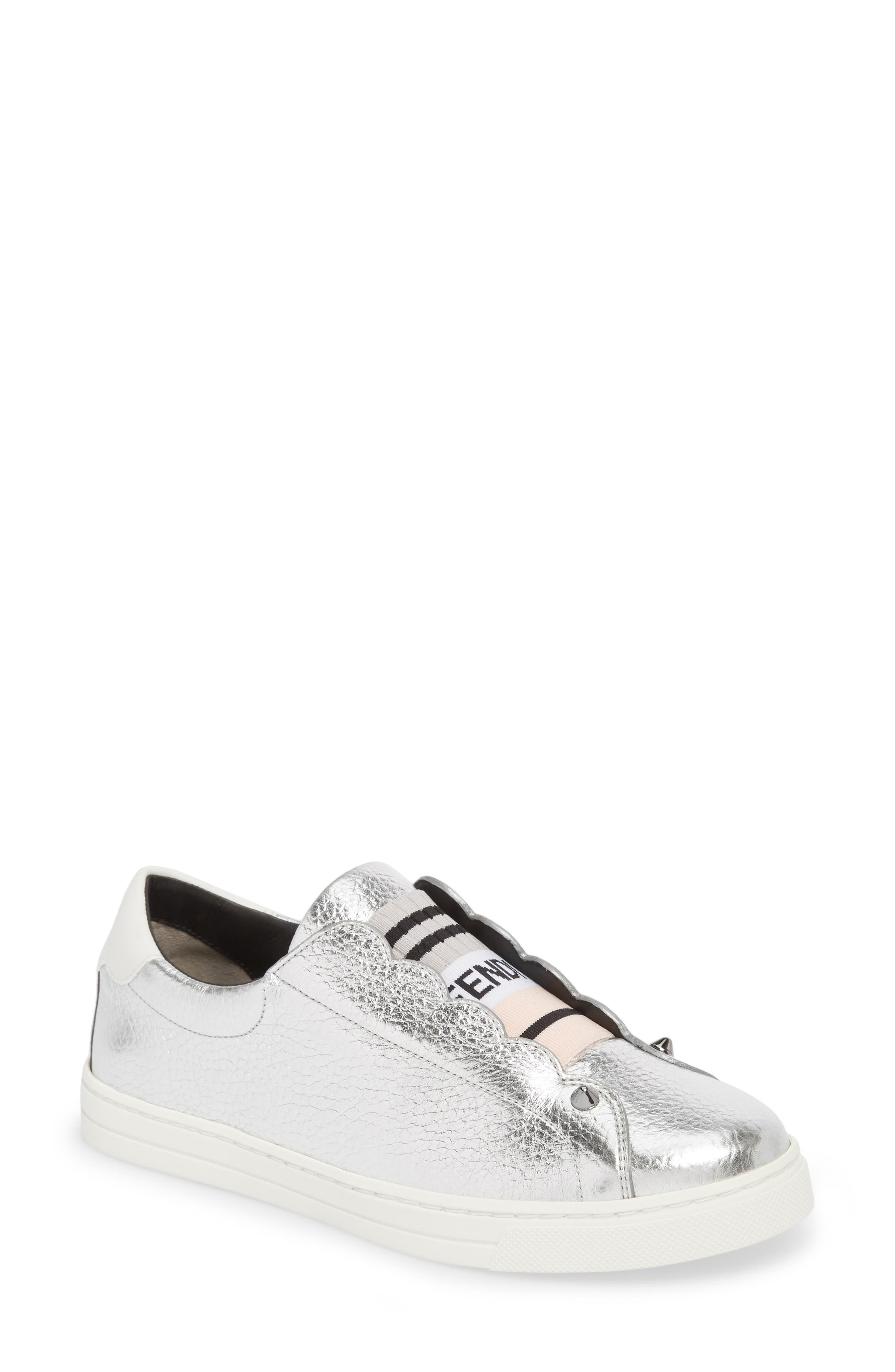 Sneakers for Women On Sale, White, Fabric, 2017, 4.5 5.5 6 7.5 Fendi