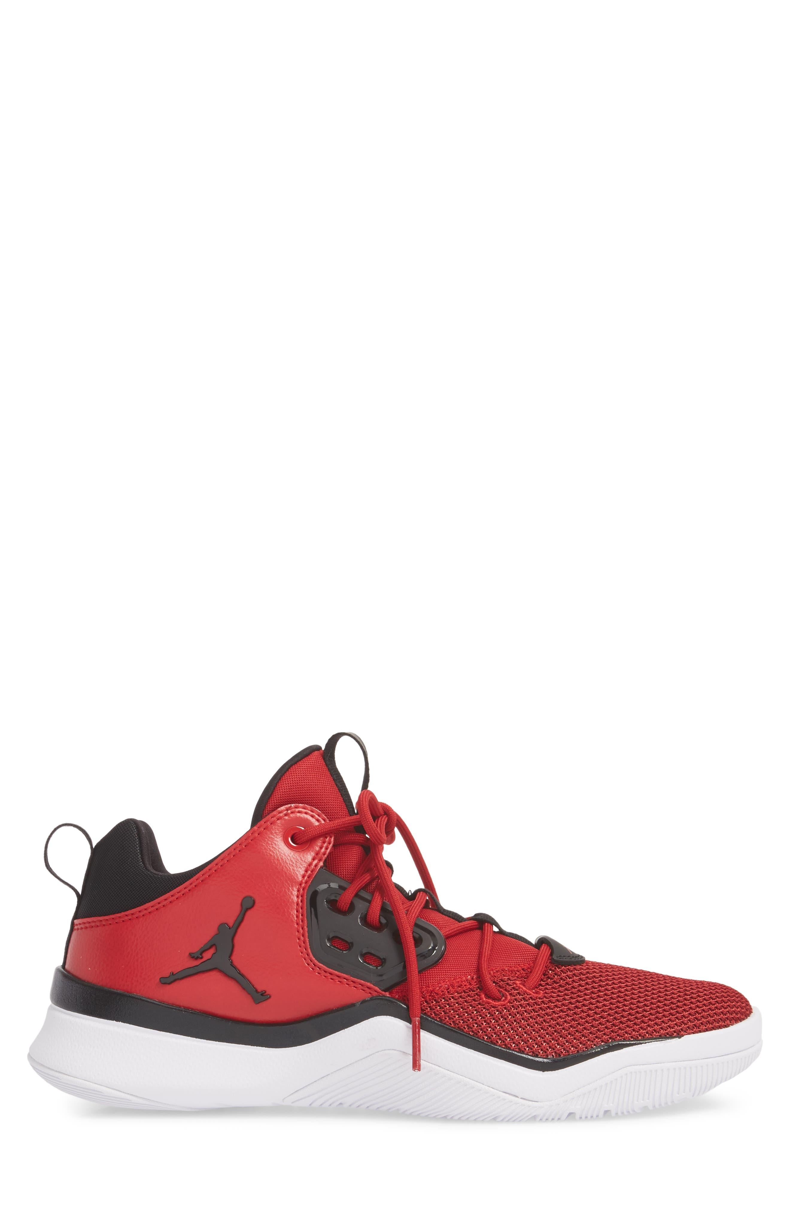 Jordan DNA Sneaker,                             Alternate thumbnail 3, color,                             Gym Red/ Black/ White