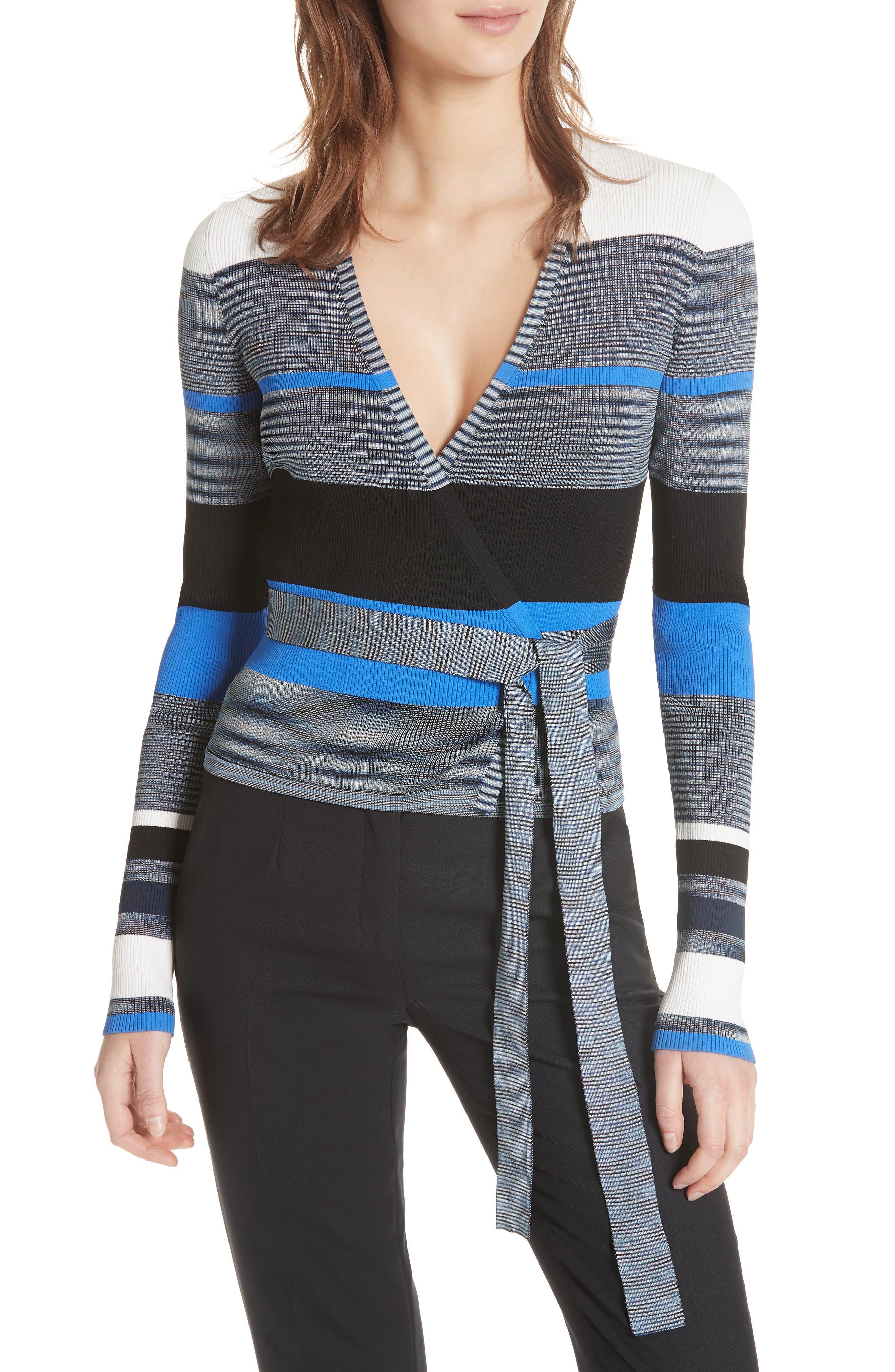 Diane von Furstenberg Crop Wrap Sweater