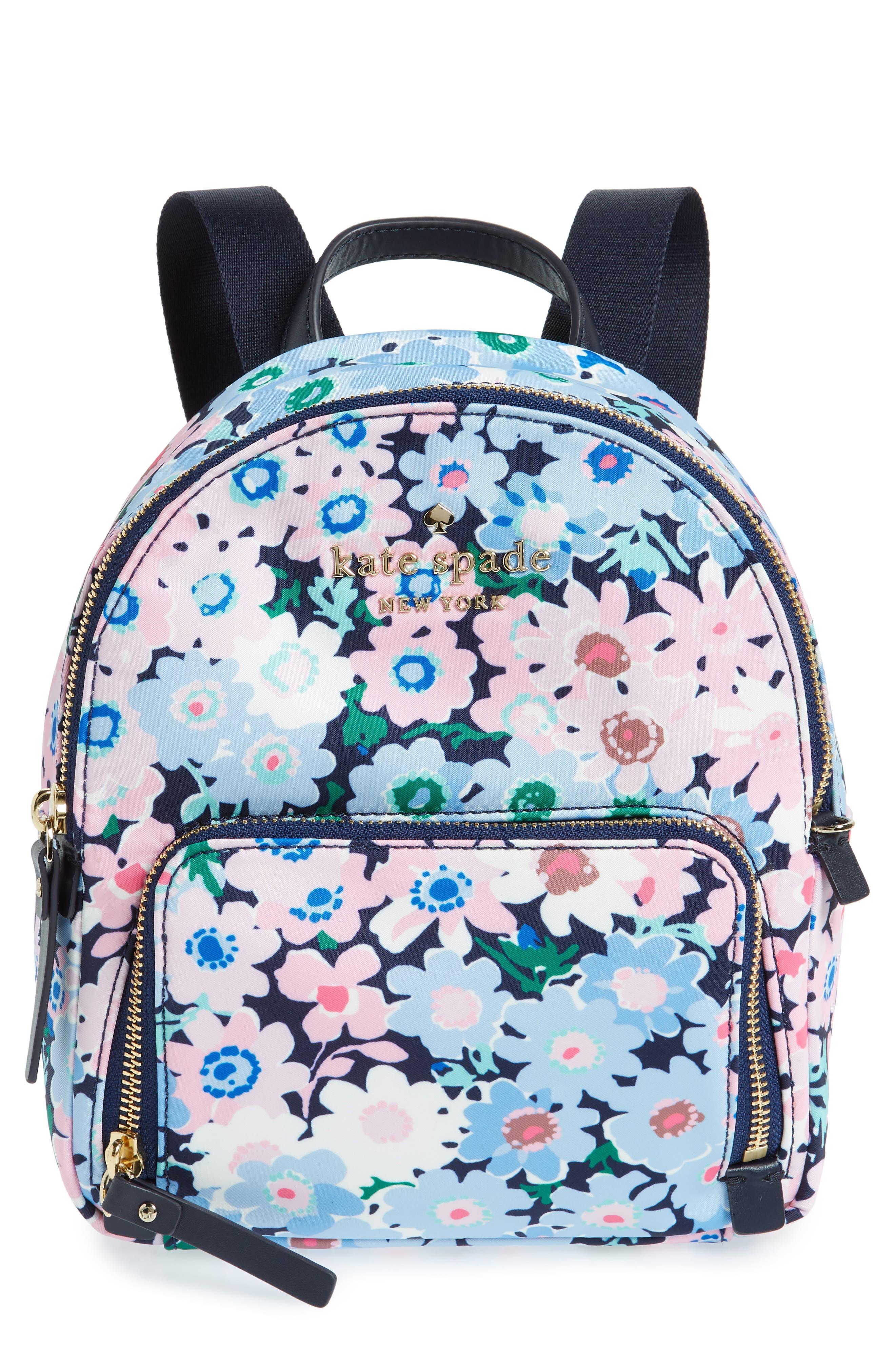 watson lane - daisy garden small hartley backpack,                         Main,                         color, Blue Multi