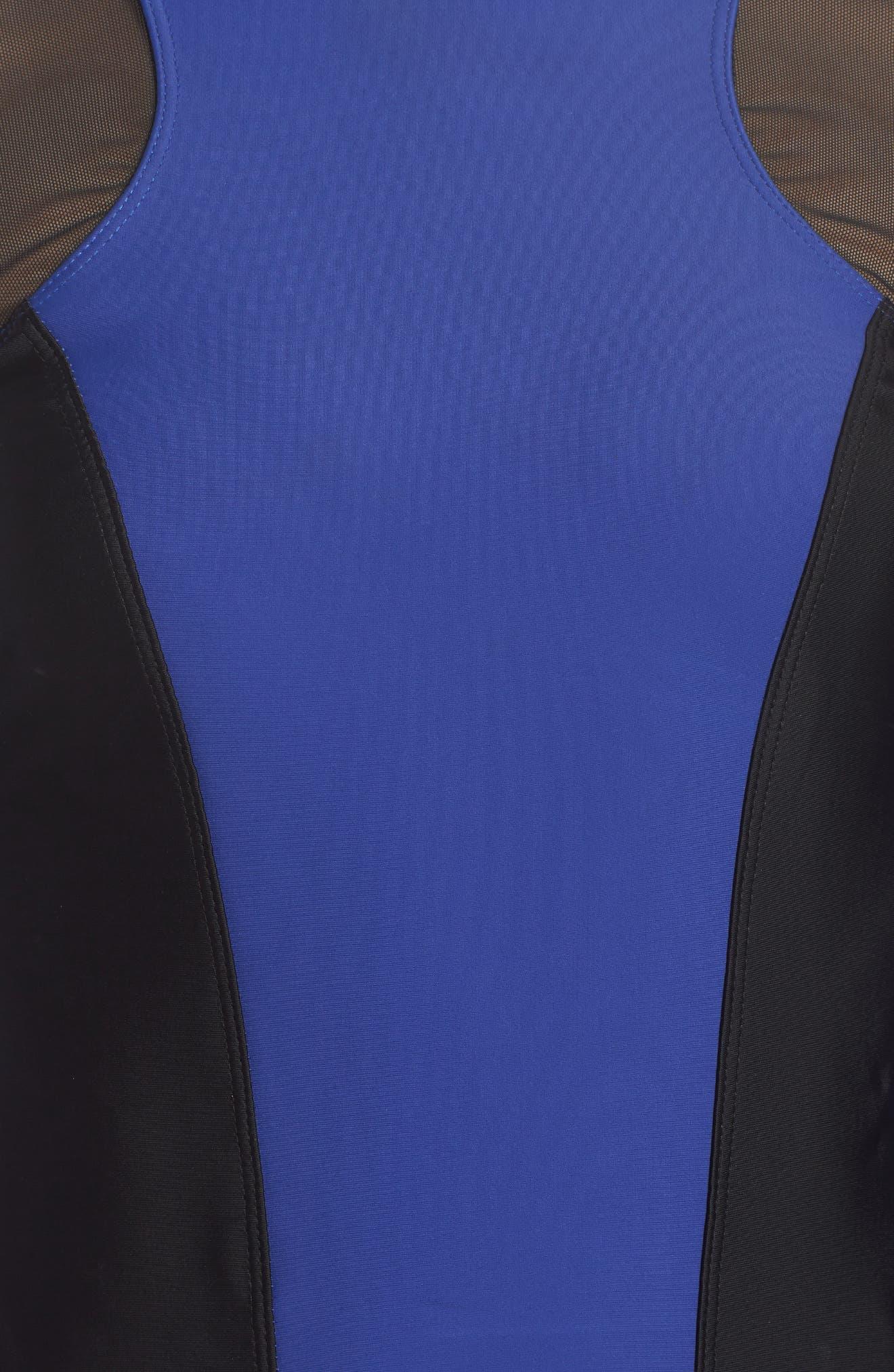 Hydro Rash Guard,                             Alternate thumbnail 4, color,                             Blue/ Black