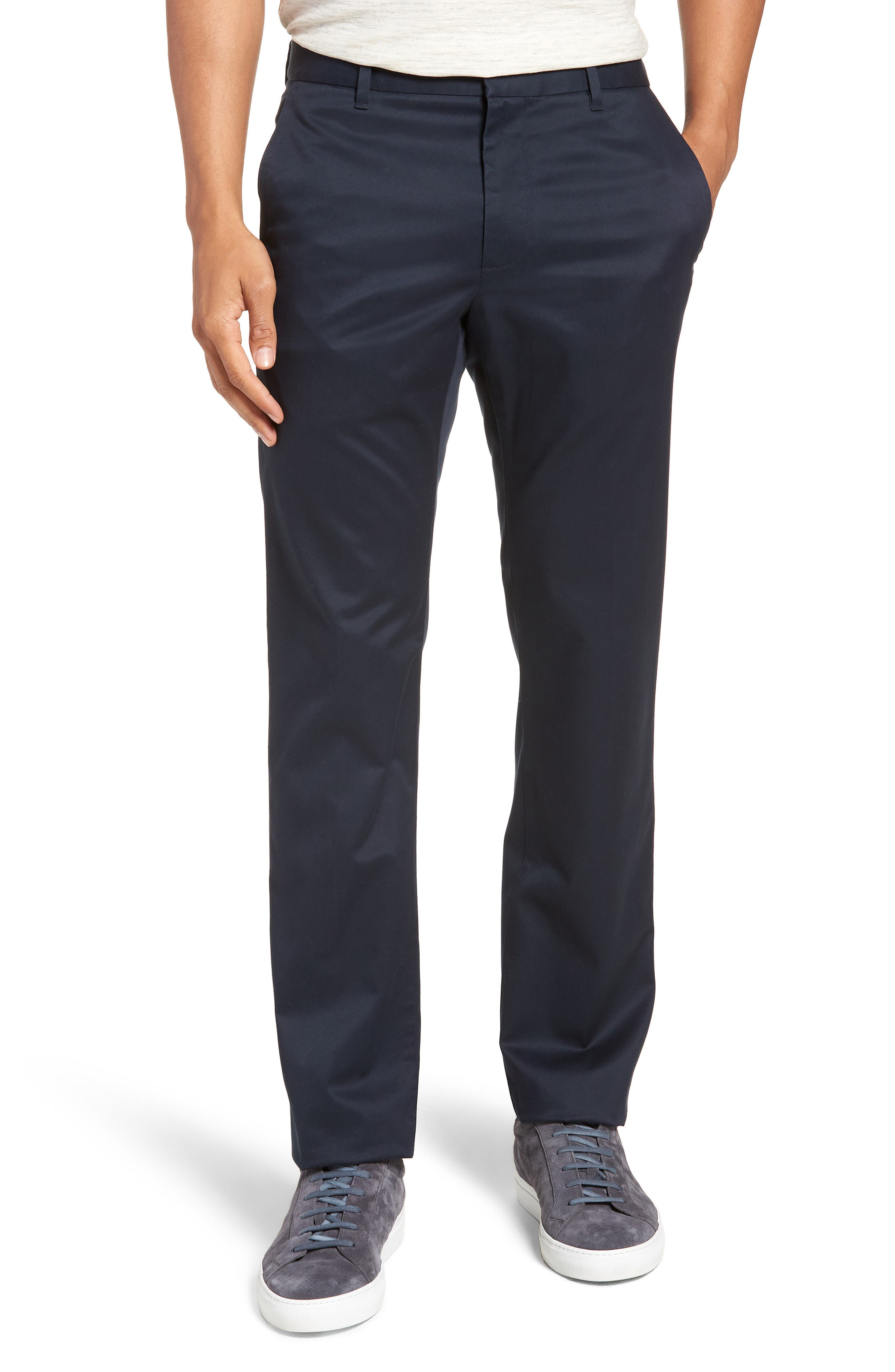 Weekday Warrior Slim Fit Stretch Pants,                             Main thumbnail 1, color,                             Monday Blues
