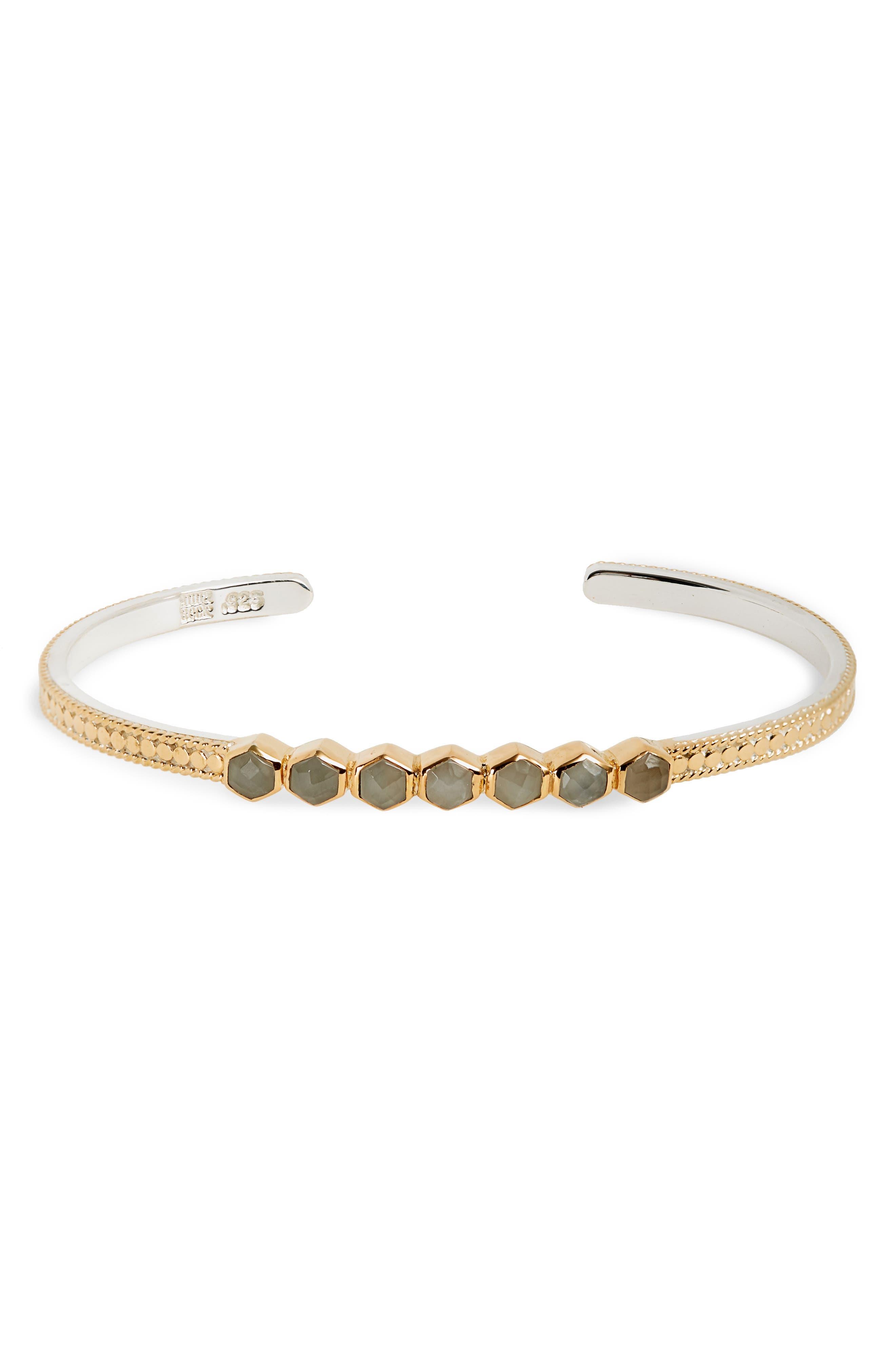 Anna Beck Grey Moonstone Cuff Bracelet