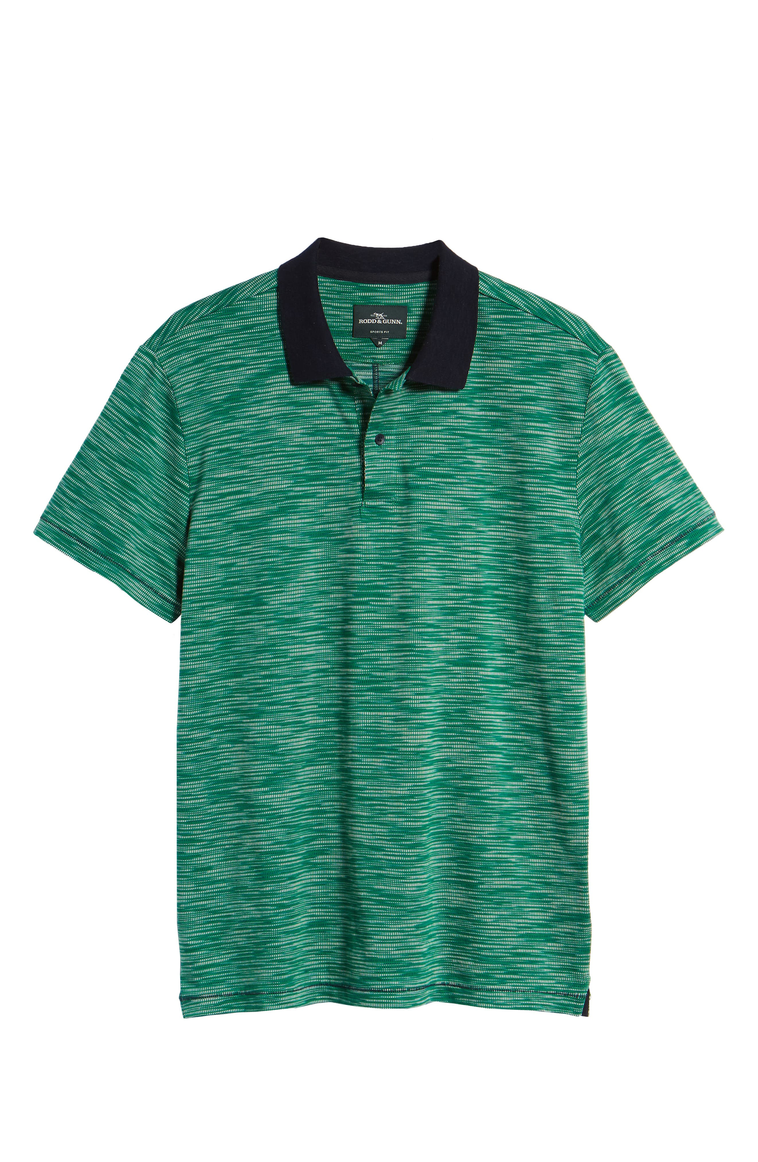 Tay Street Regular Fit Polo,                             Alternate thumbnail 6, color,                             Emerald