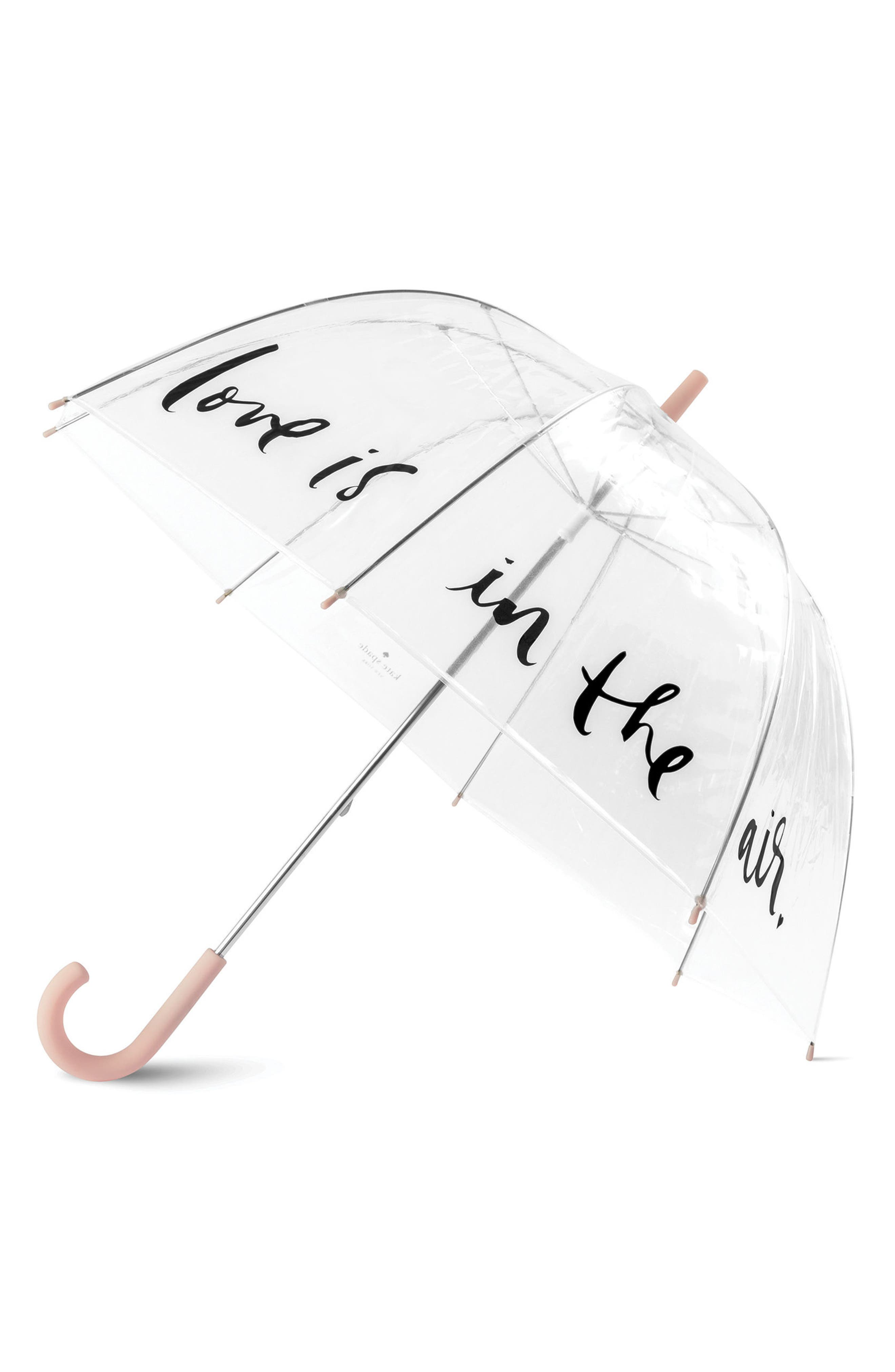 polka dot clear umbrella,                             Main thumbnail 1, color,                             Clear