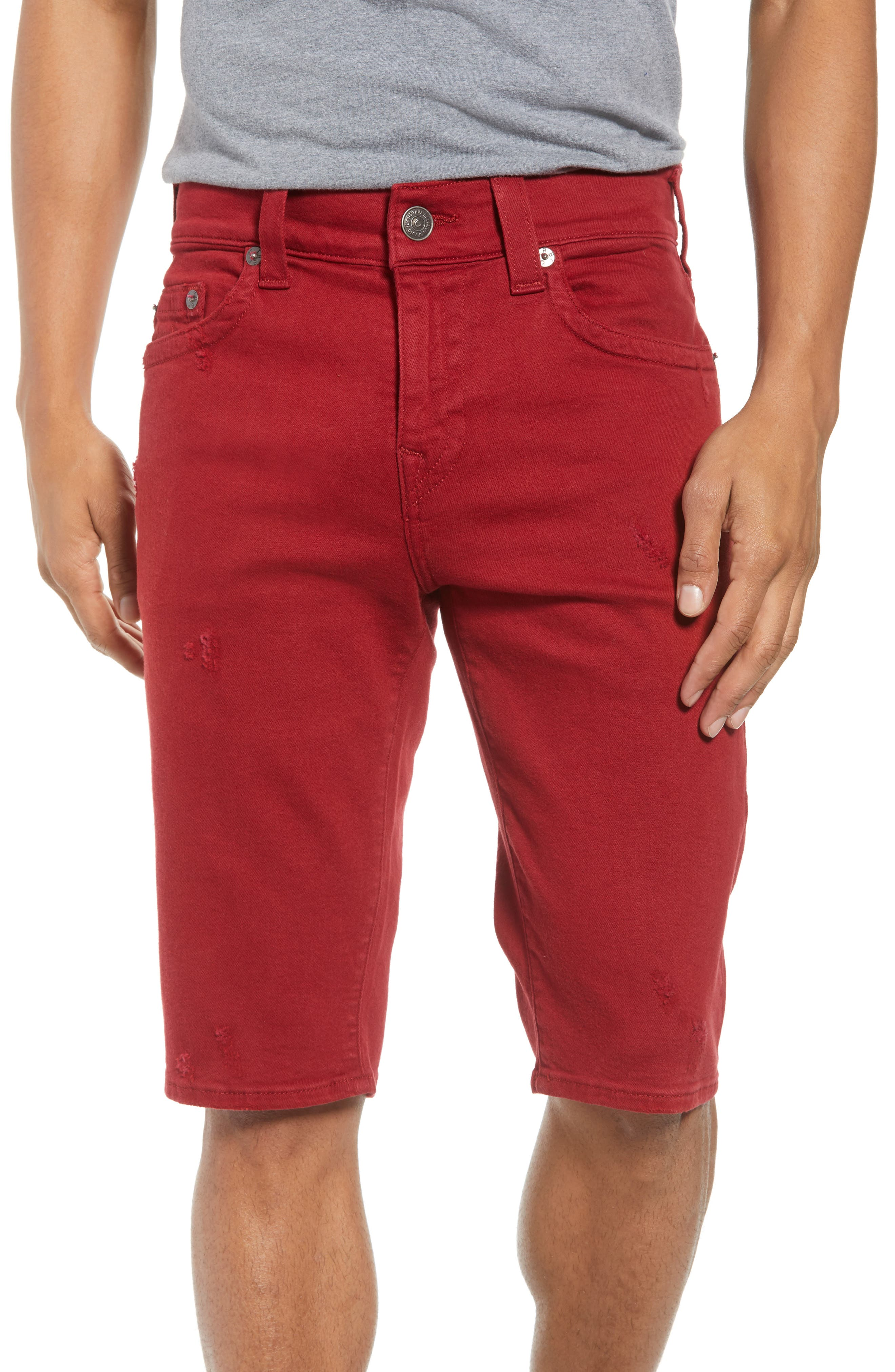 True Religion Brand Jeans Ricky Relaxed Fit Shorts (Firecracker Red)