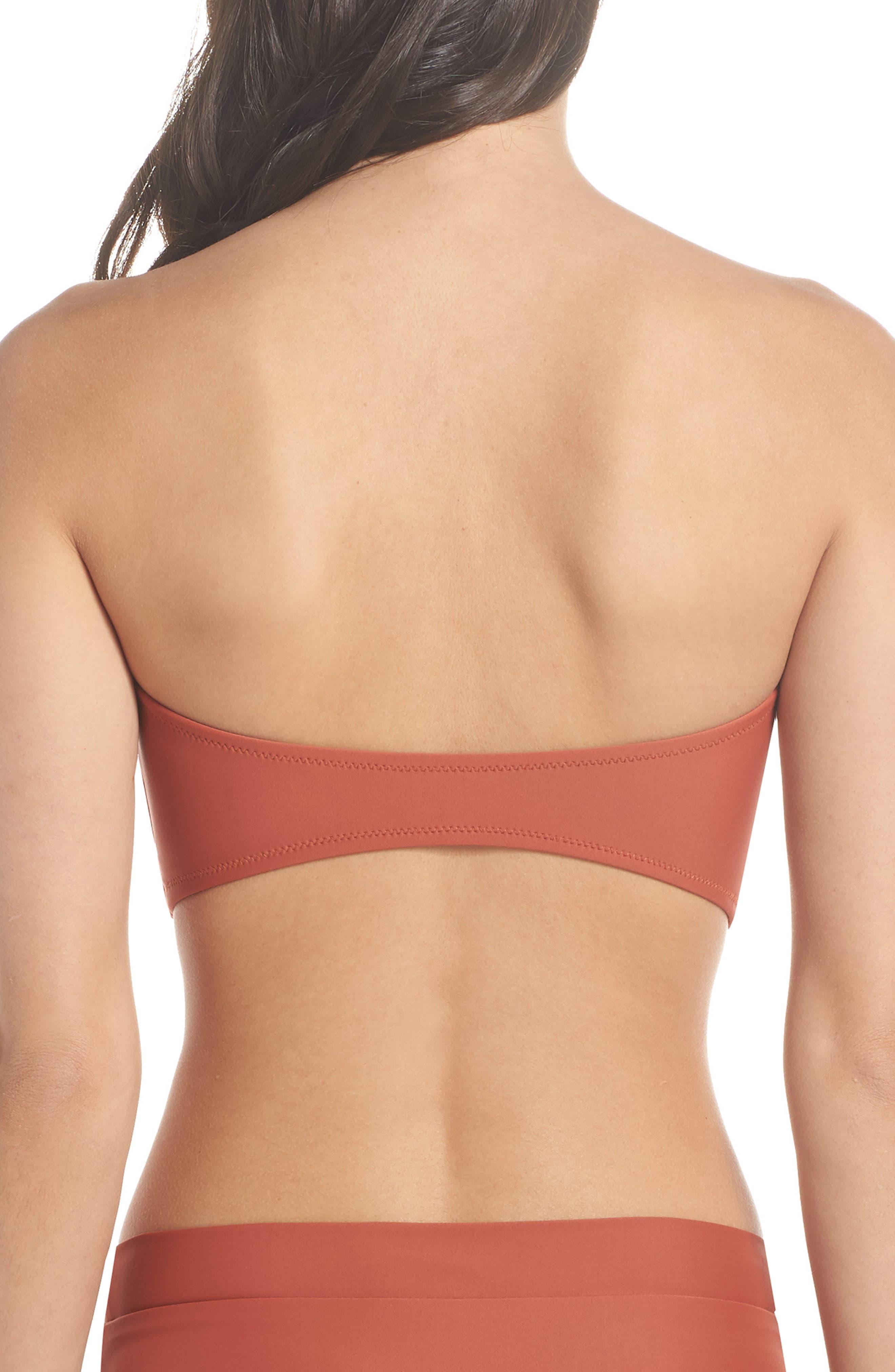 Fairfax Bandeau Bikini Top,                             Alternate thumbnail 2, color,                             Copper