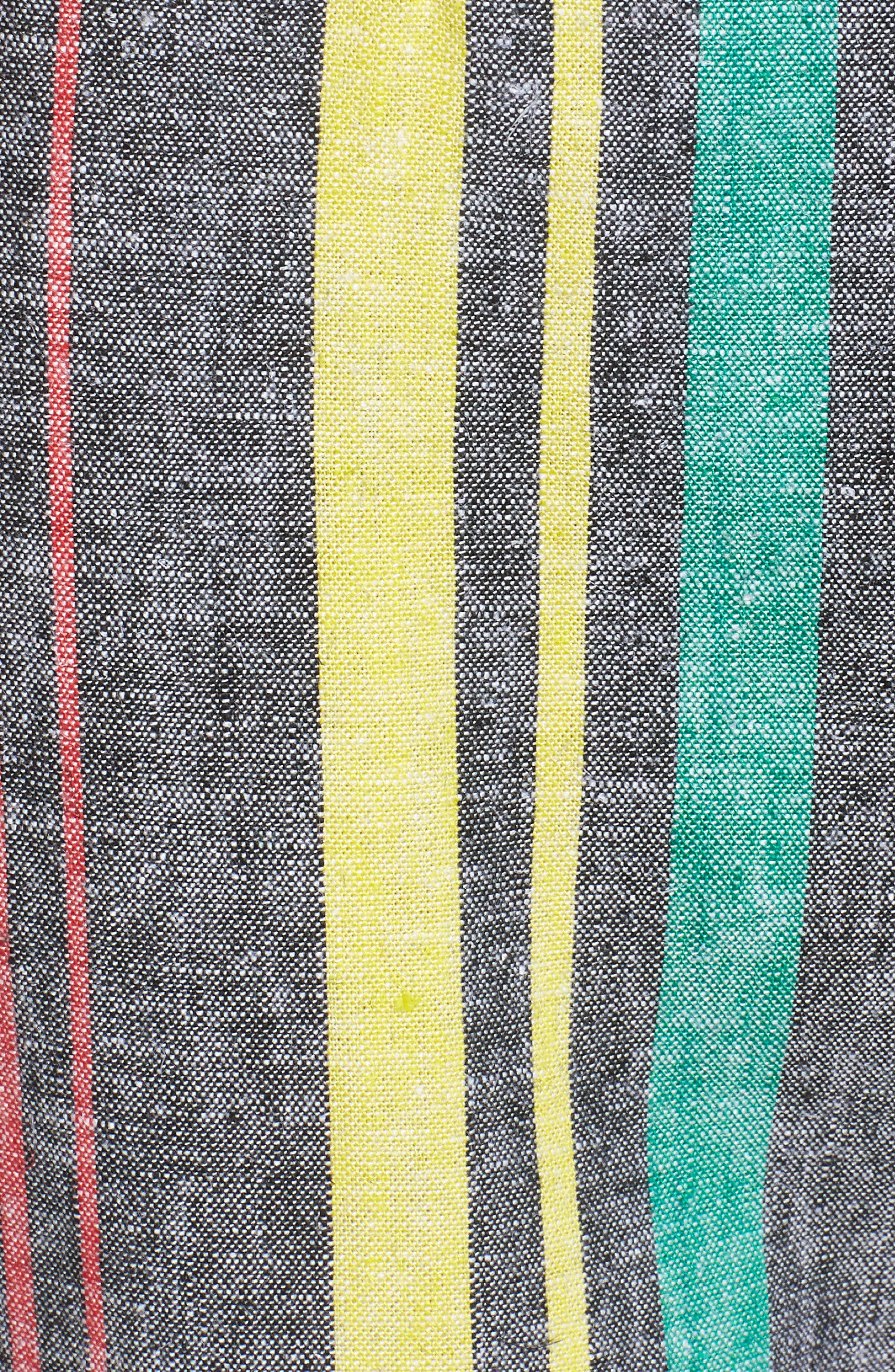 Karina High Waist Crop Flare Pant,                             Alternate thumbnail 7, color,                             Rainbow Stripe