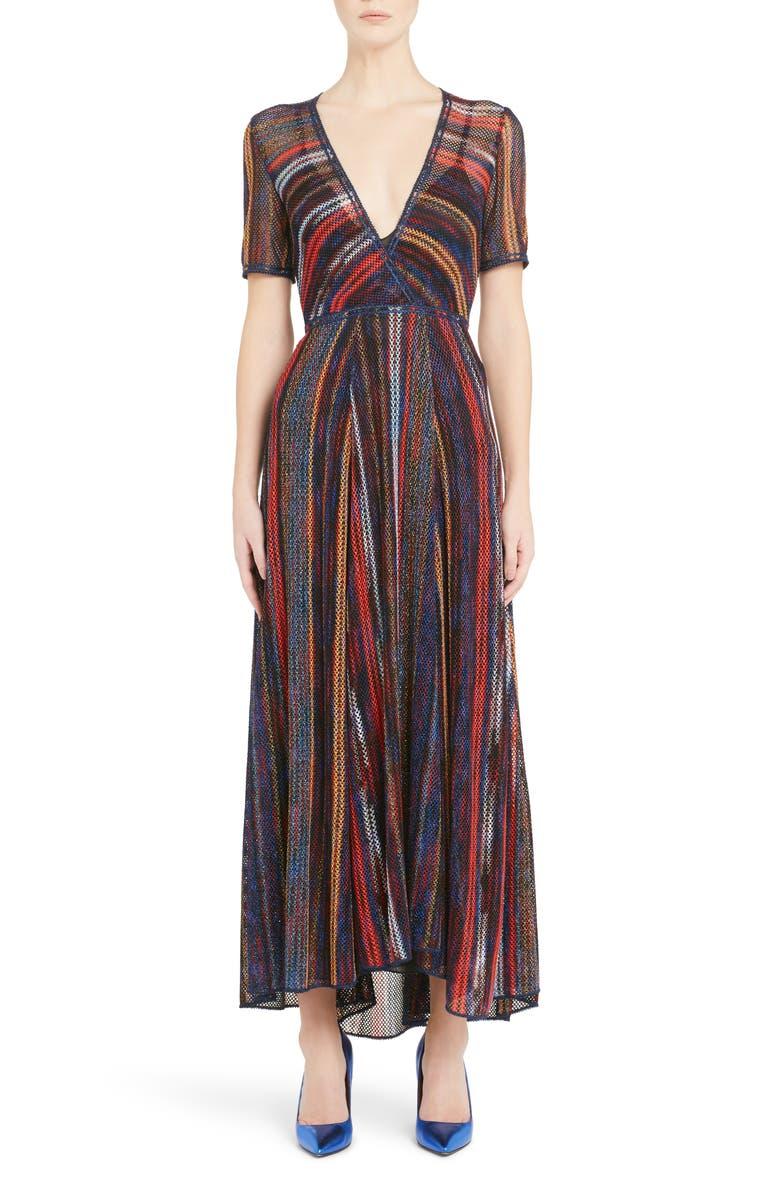 Metallic Stripe Knit Dress