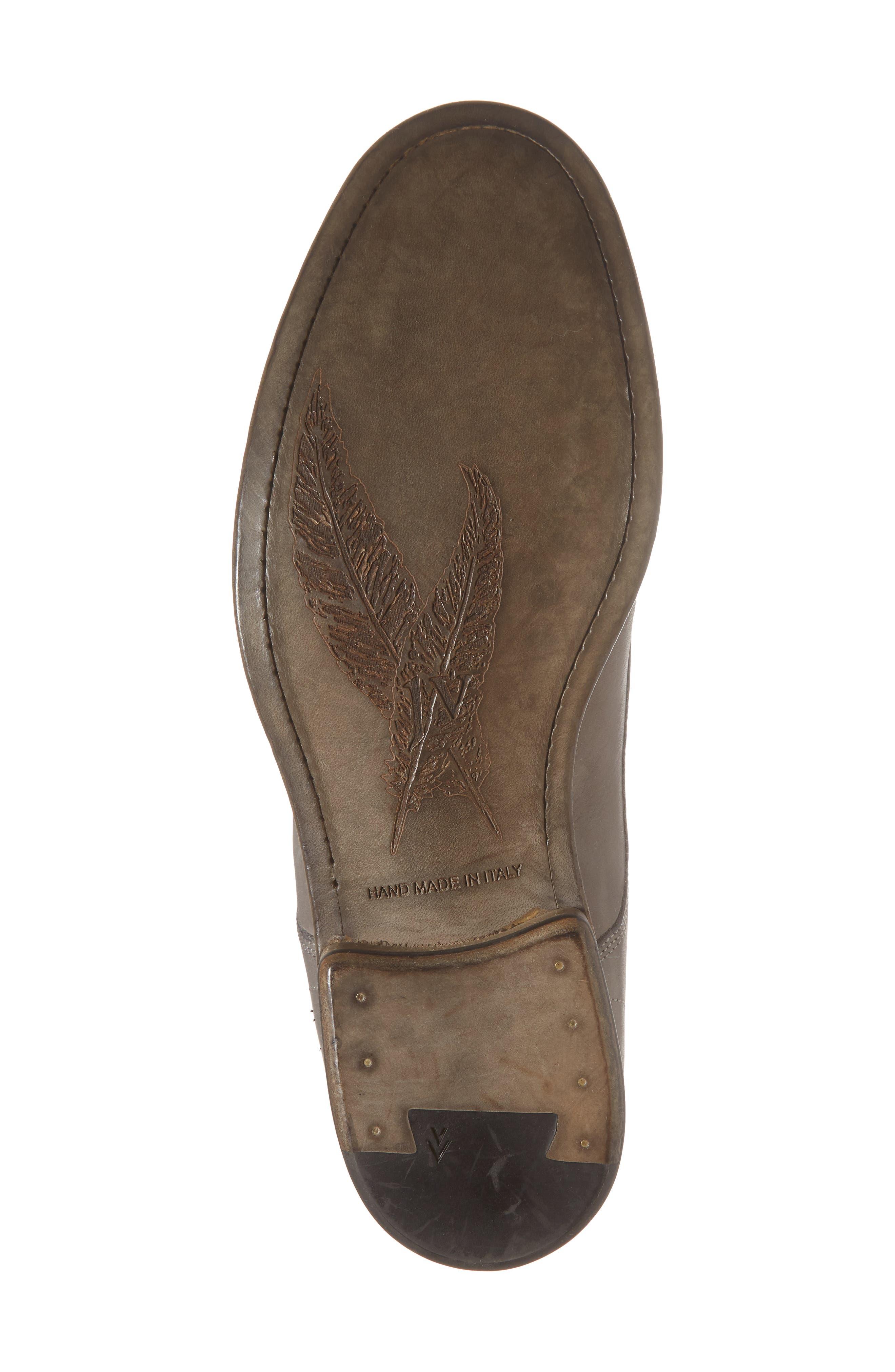 John Varvatos Stanton Plain Toe Derby,                             Alternate thumbnail 6, color,                             Ash Leather