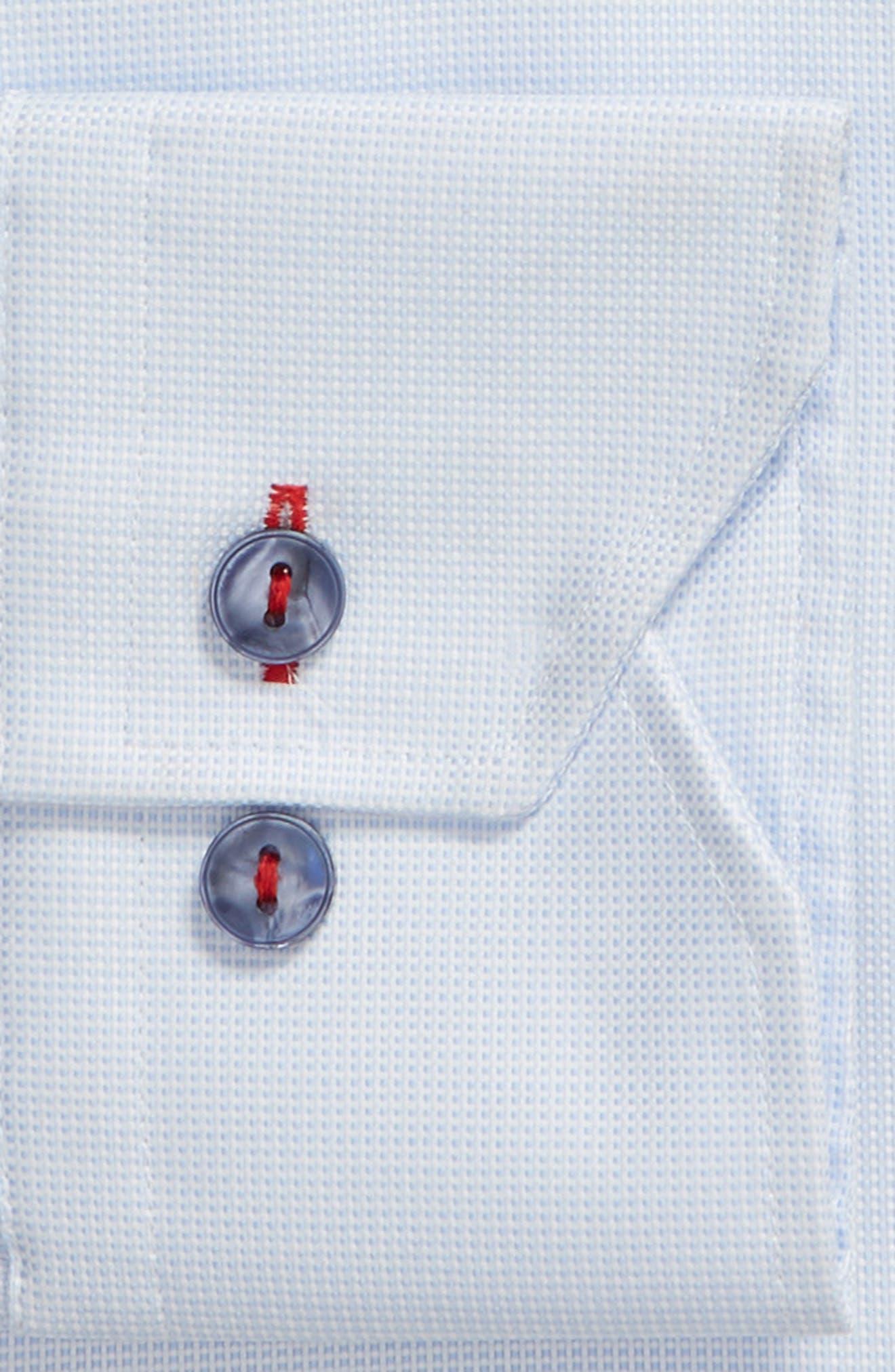 Trim Fit Solid Dress Shirt,                             Alternate thumbnail 5, color,                             Light Blue