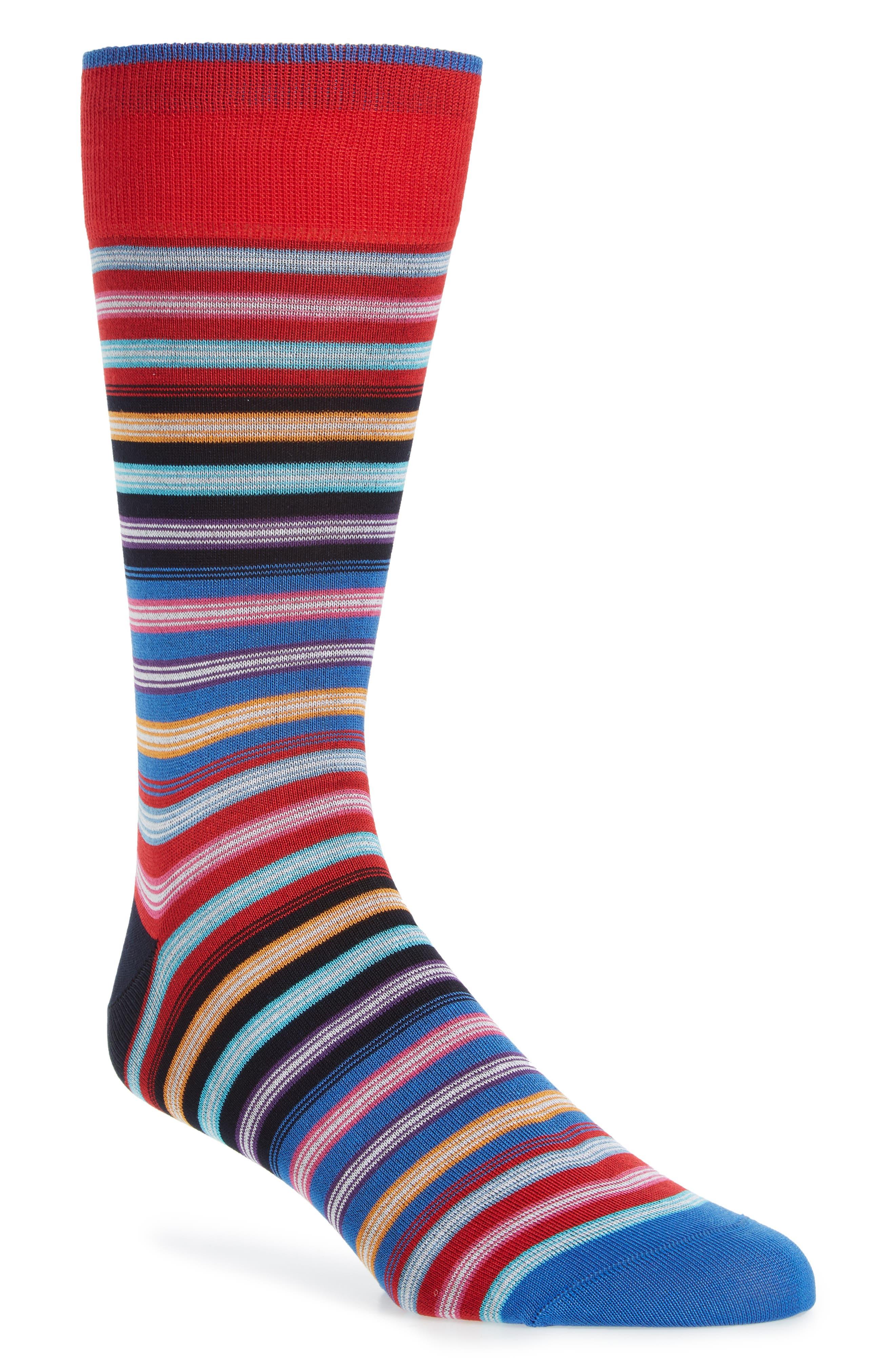 Cotton Blend Socks,                             Main thumbnail 1, color,                             Ruby